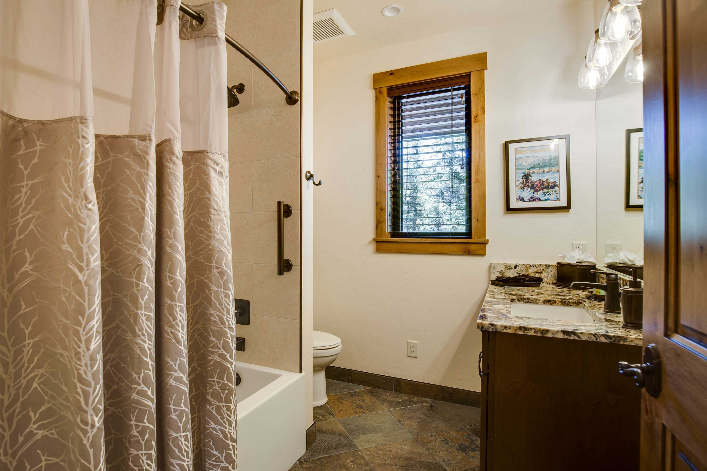 Soak your sun-kissed legs in this shower/tub combo.