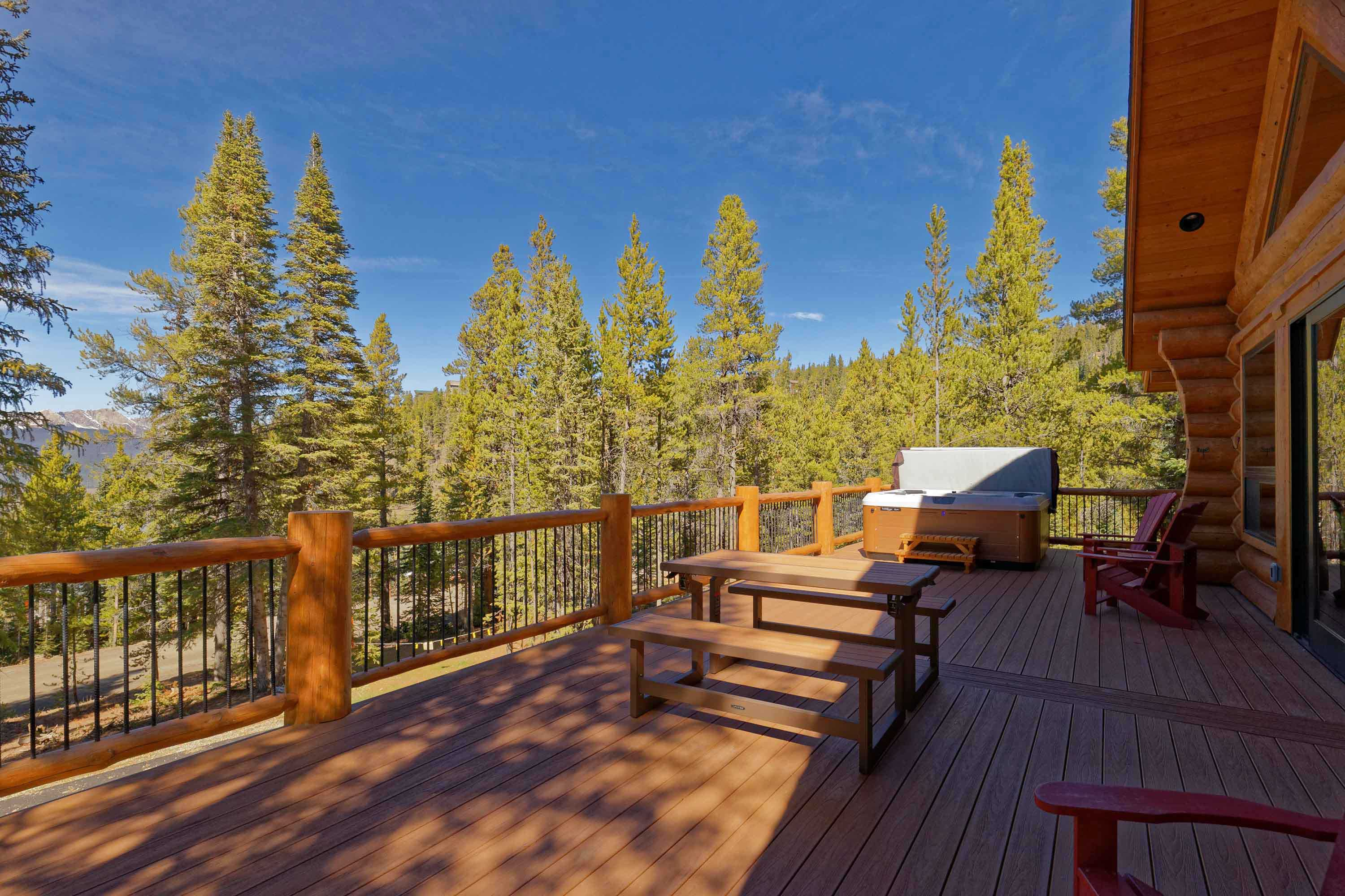 The large deck is truly one-of-a-kind.