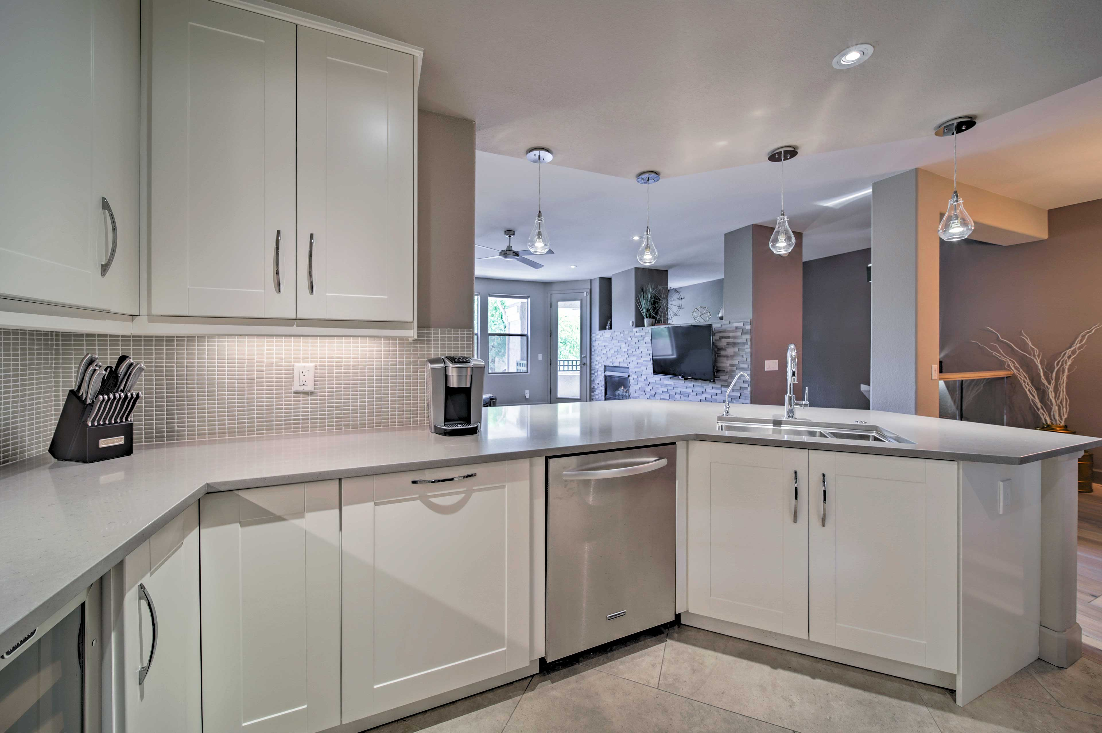 You'll love the expansive countertops.