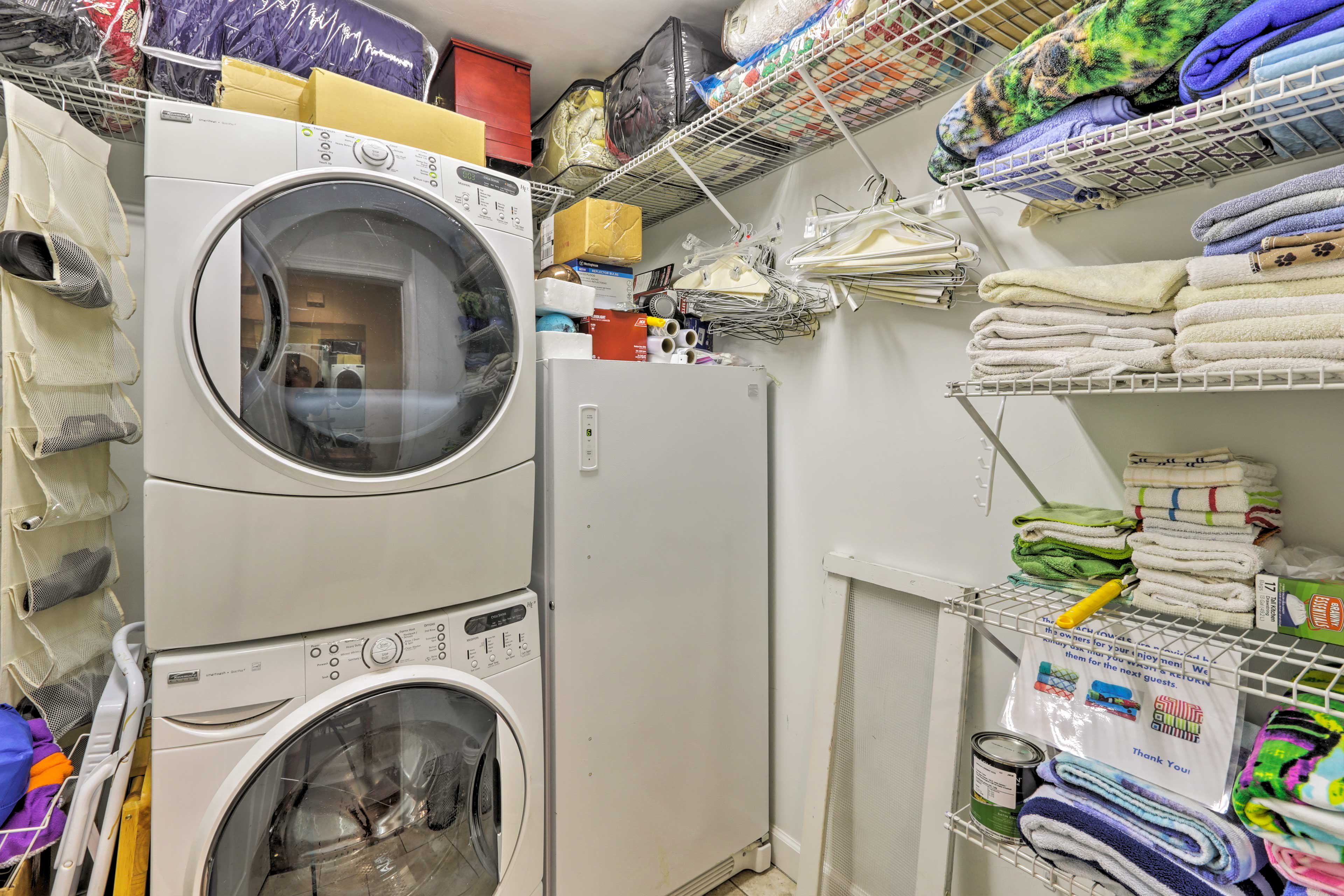 Enjoy access to the washer and dryer.