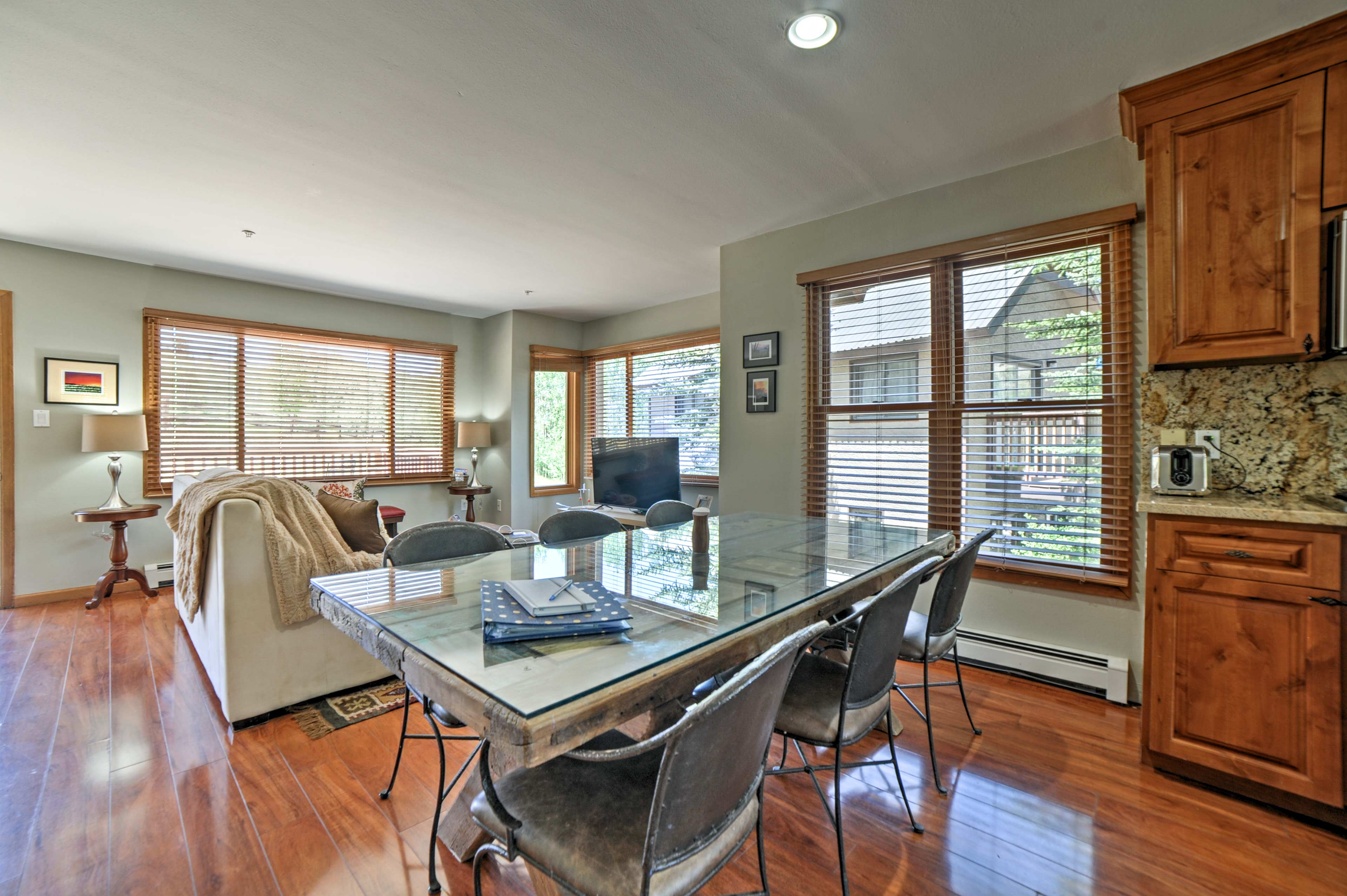 Abundant windows flood the main living space with natural light.