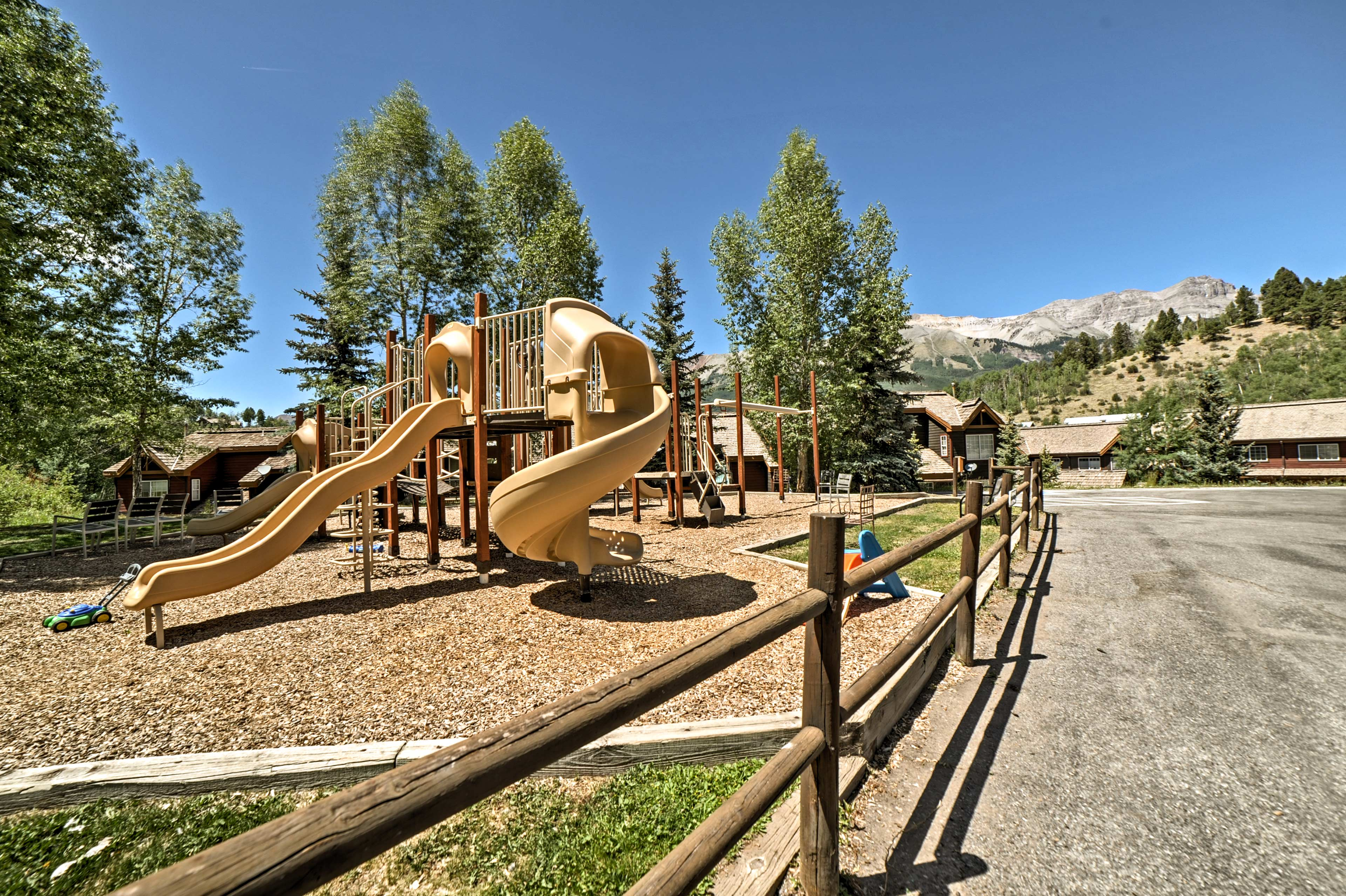 Let the little ones blow off some steam while you take in the views!