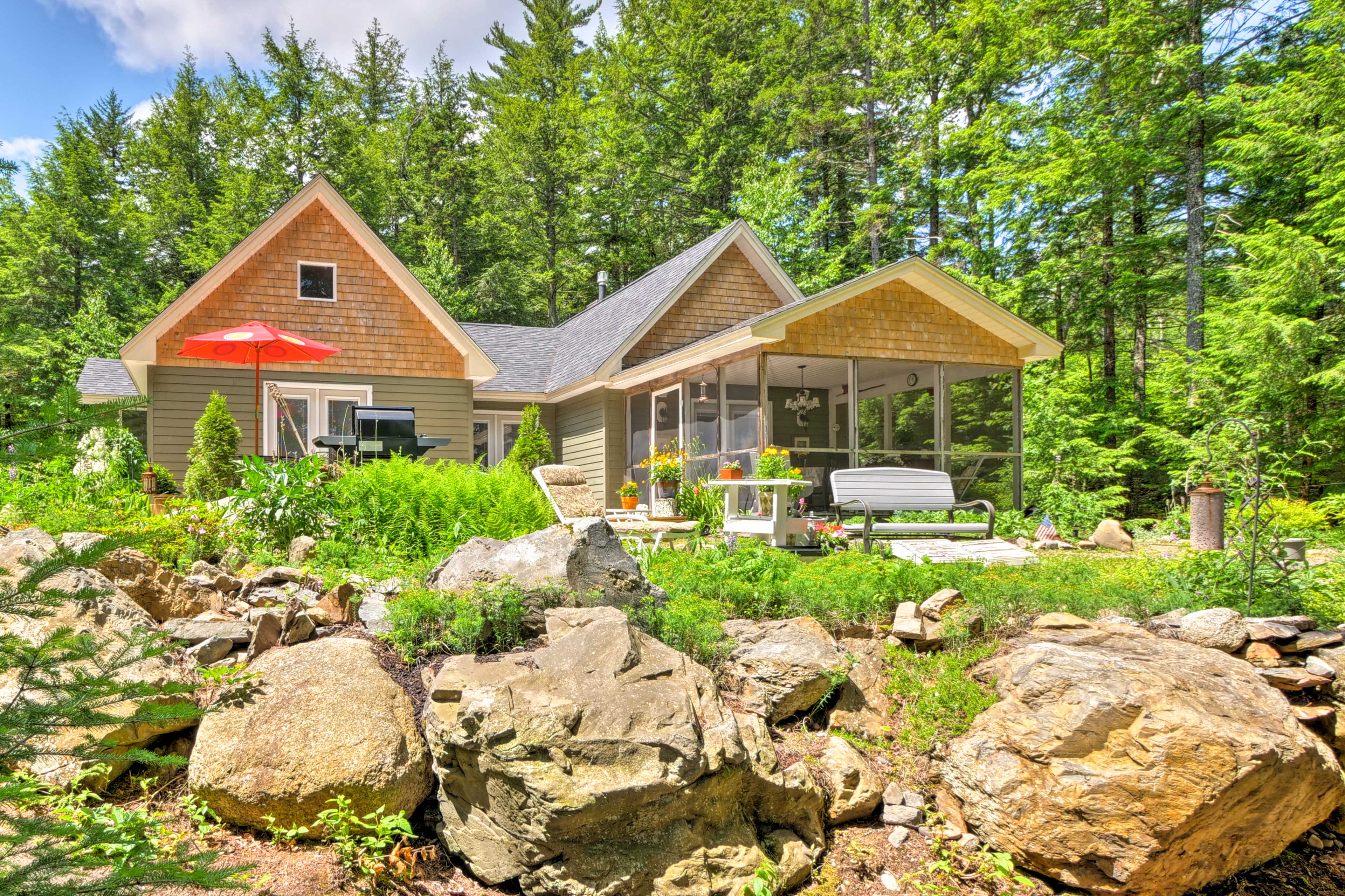 Soak up the sun as you step outside the 1,600SF home to the furnished deck!