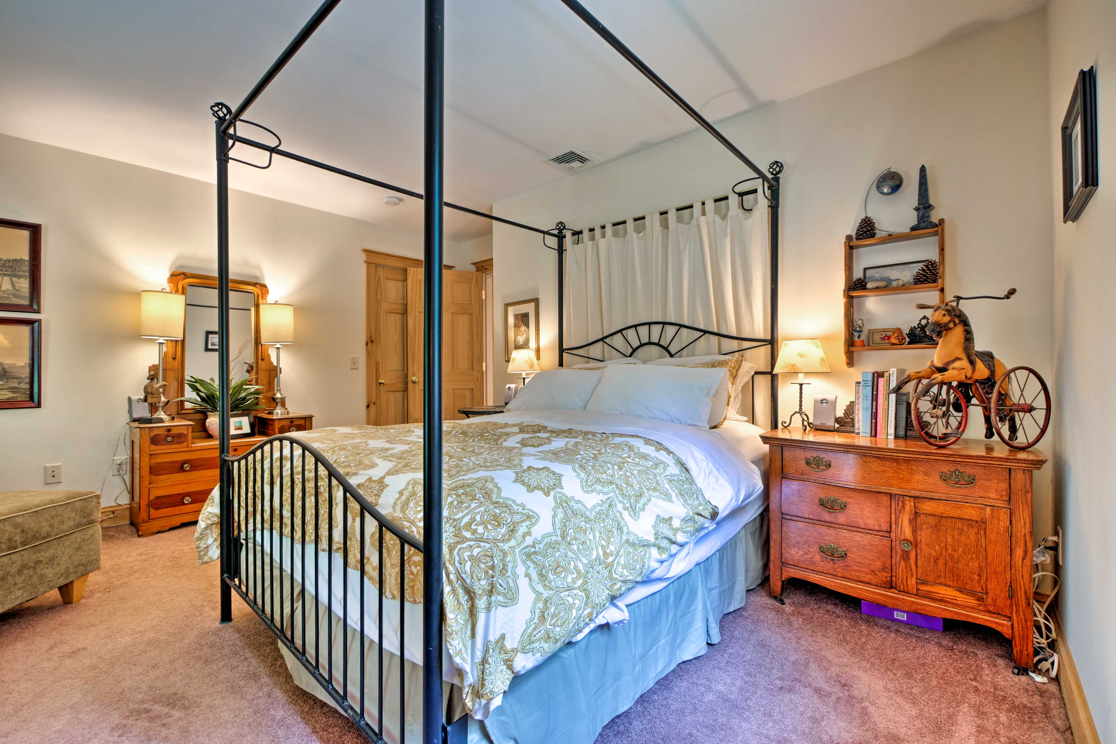 The second bedroom is just as beautiful at the master with a queen bed.