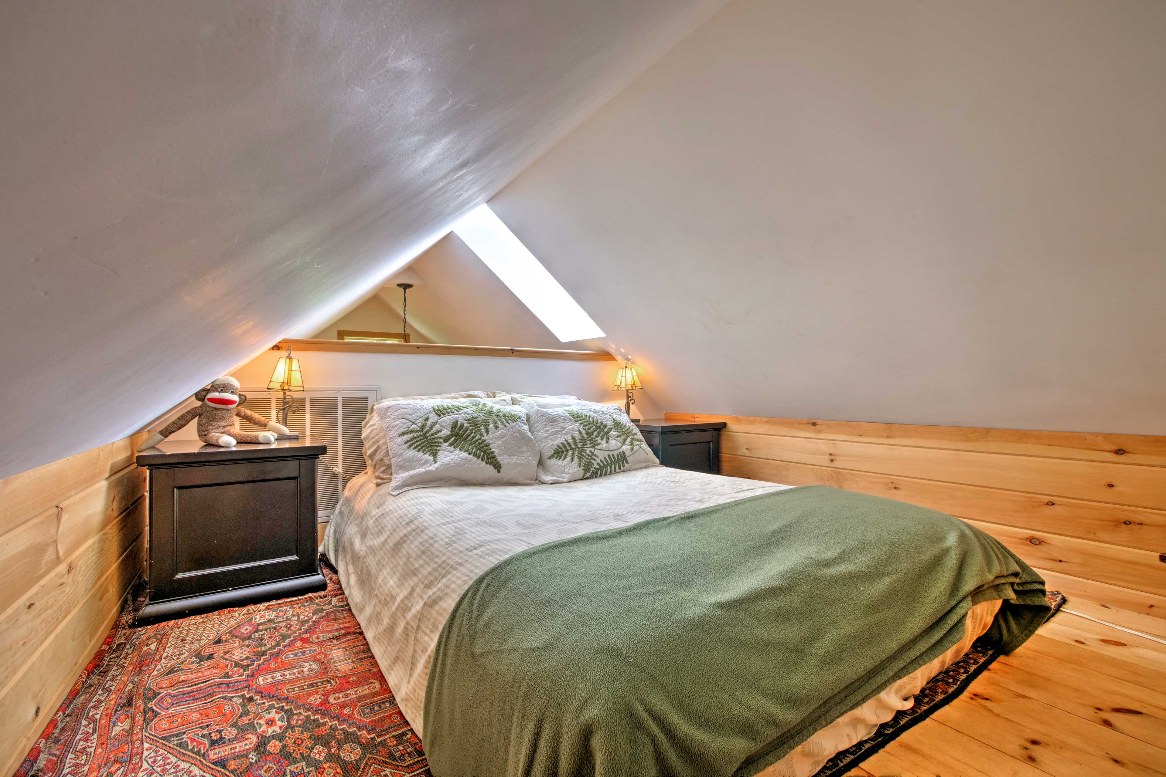 This bonus loft-bedroom is perfect for kids looking for a little adventure!