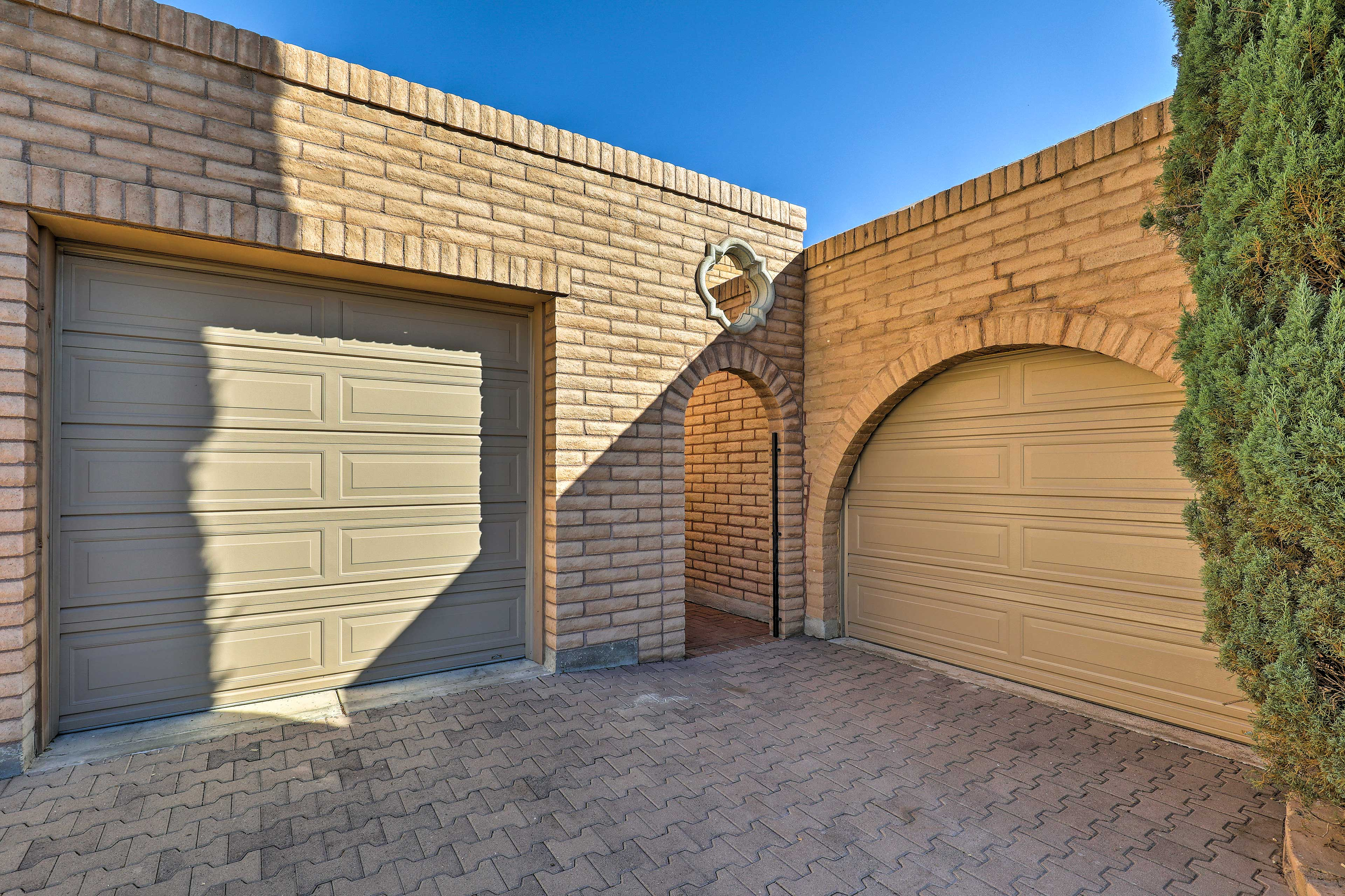 You'll have a private entrance and a parking space in the garage.
