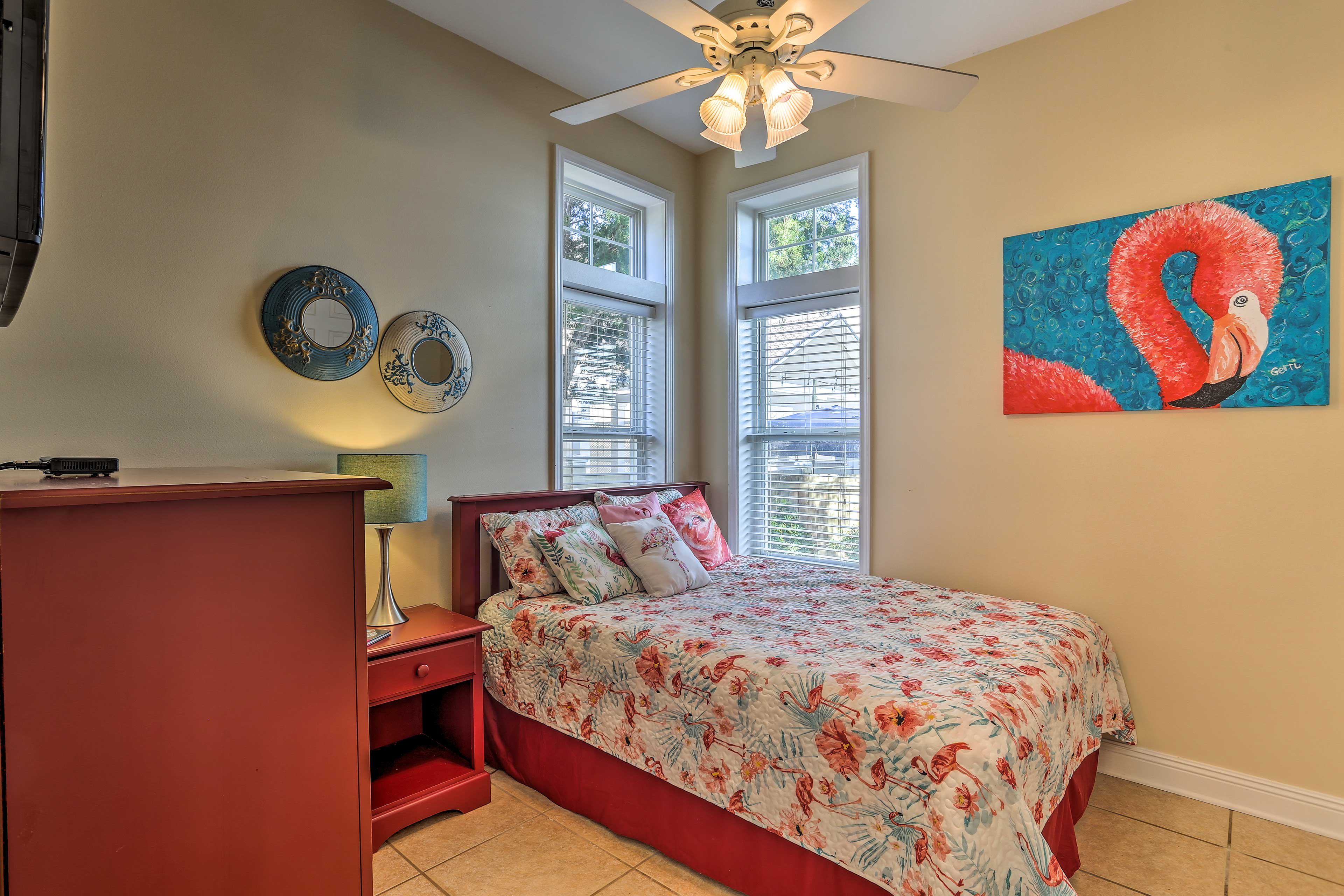 Choose from one of the 4 bedrooms to sleep in during your stay.