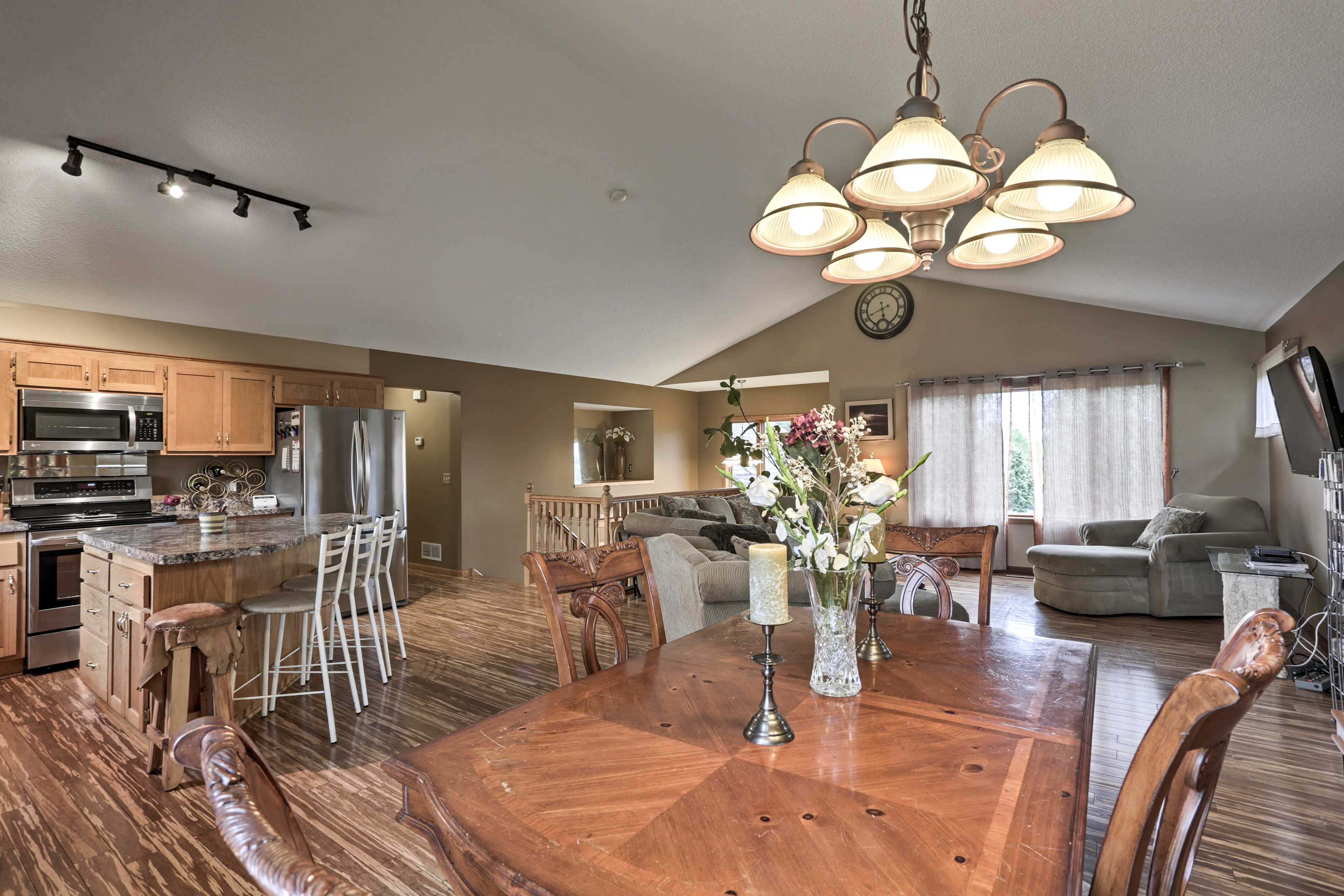 At-home dining will be a sinch at this formal dining space.