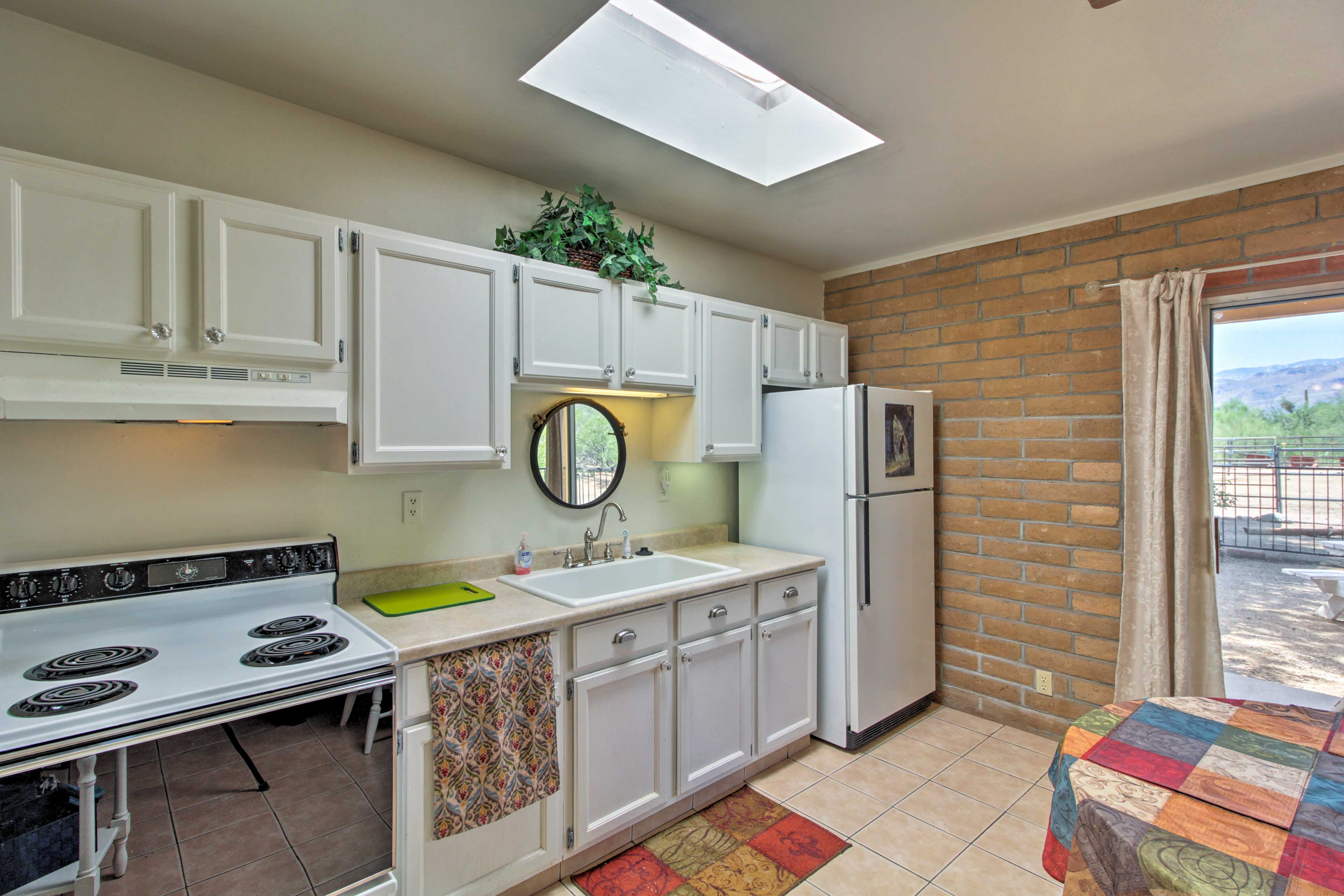 Make all of your favorite dishes in the fully equipped kitchen.