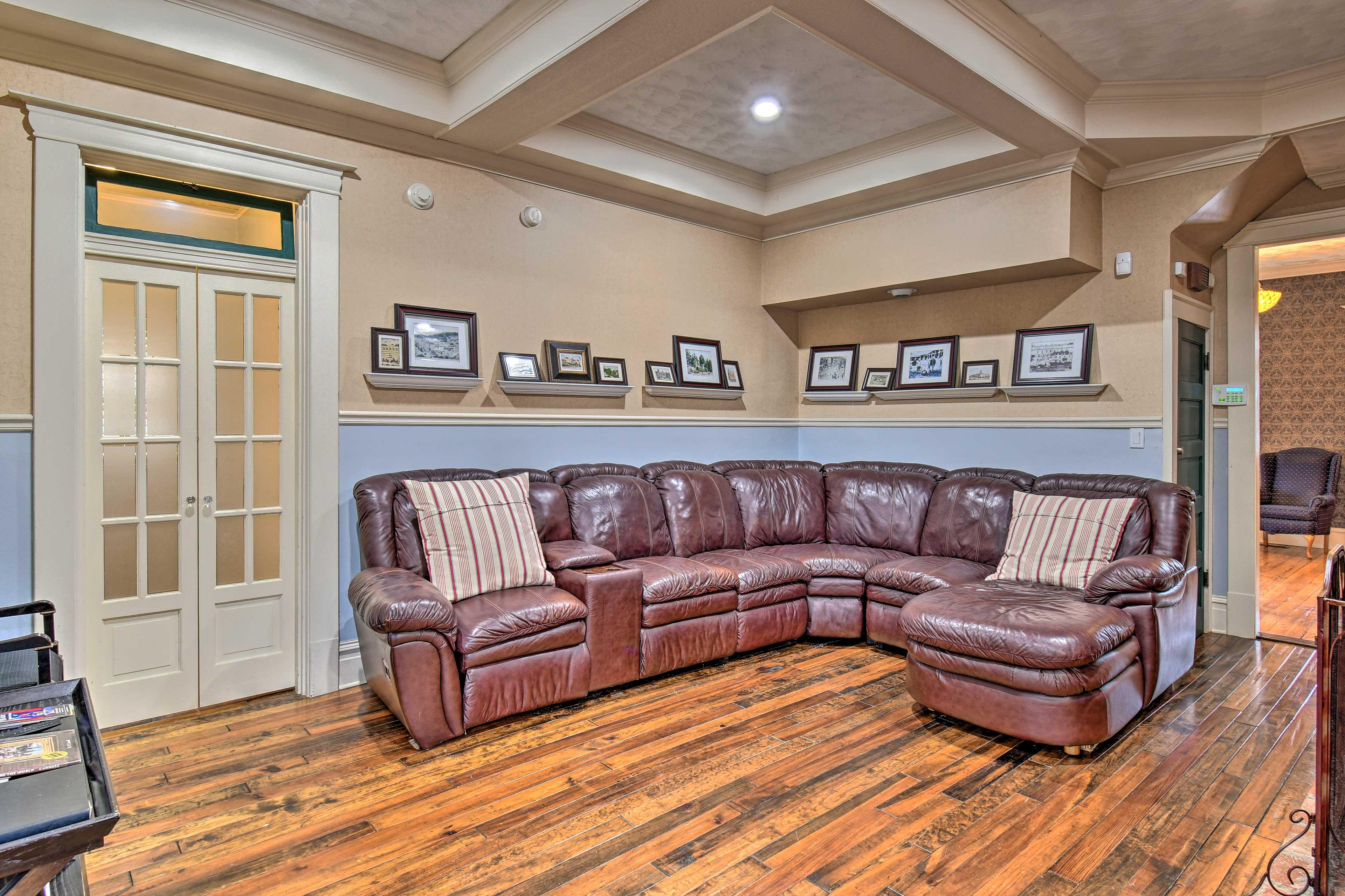 Original hardwood floors are found throughout.