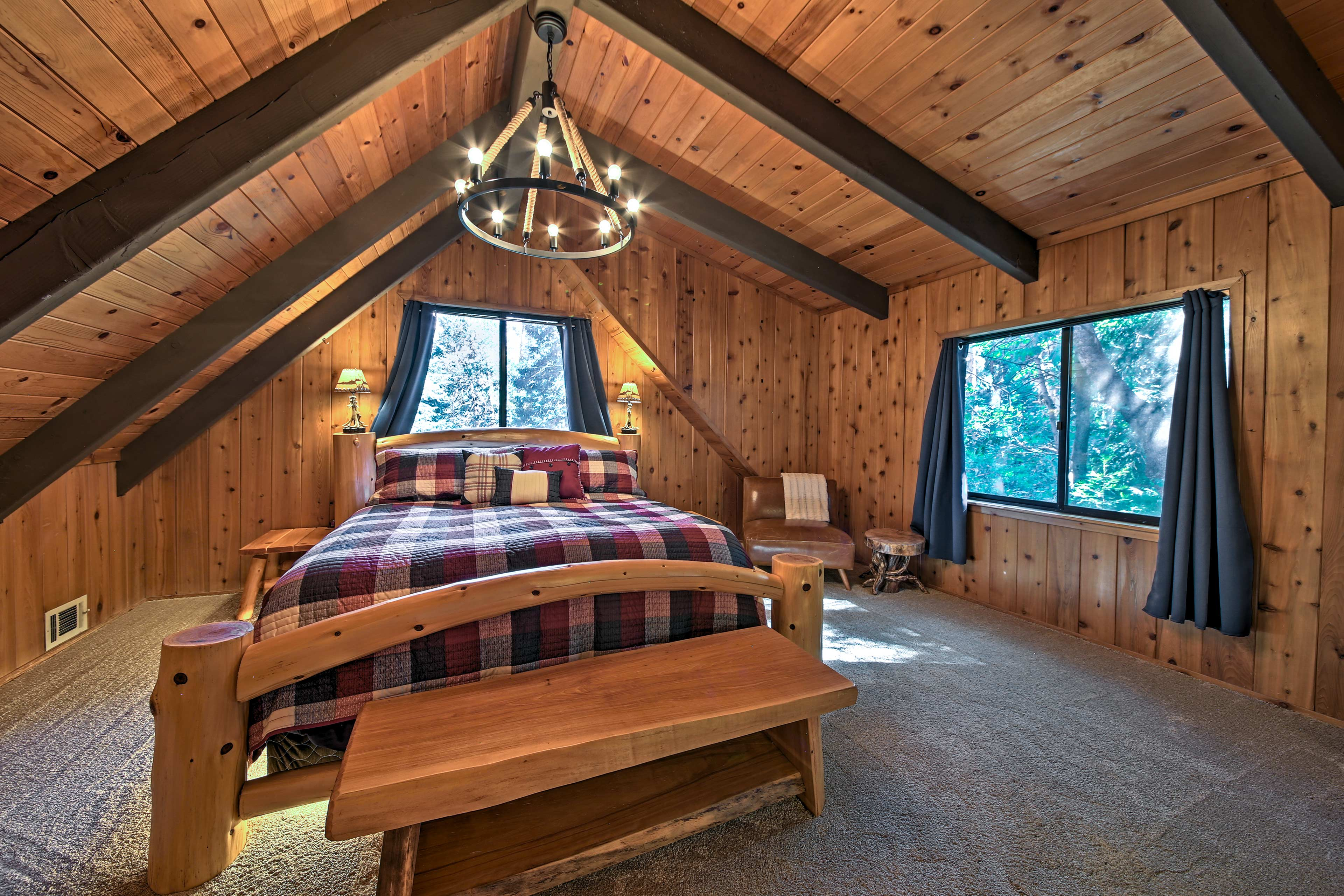 Sleep peacefully each night in the cloud-like king bed in the master bedroom.