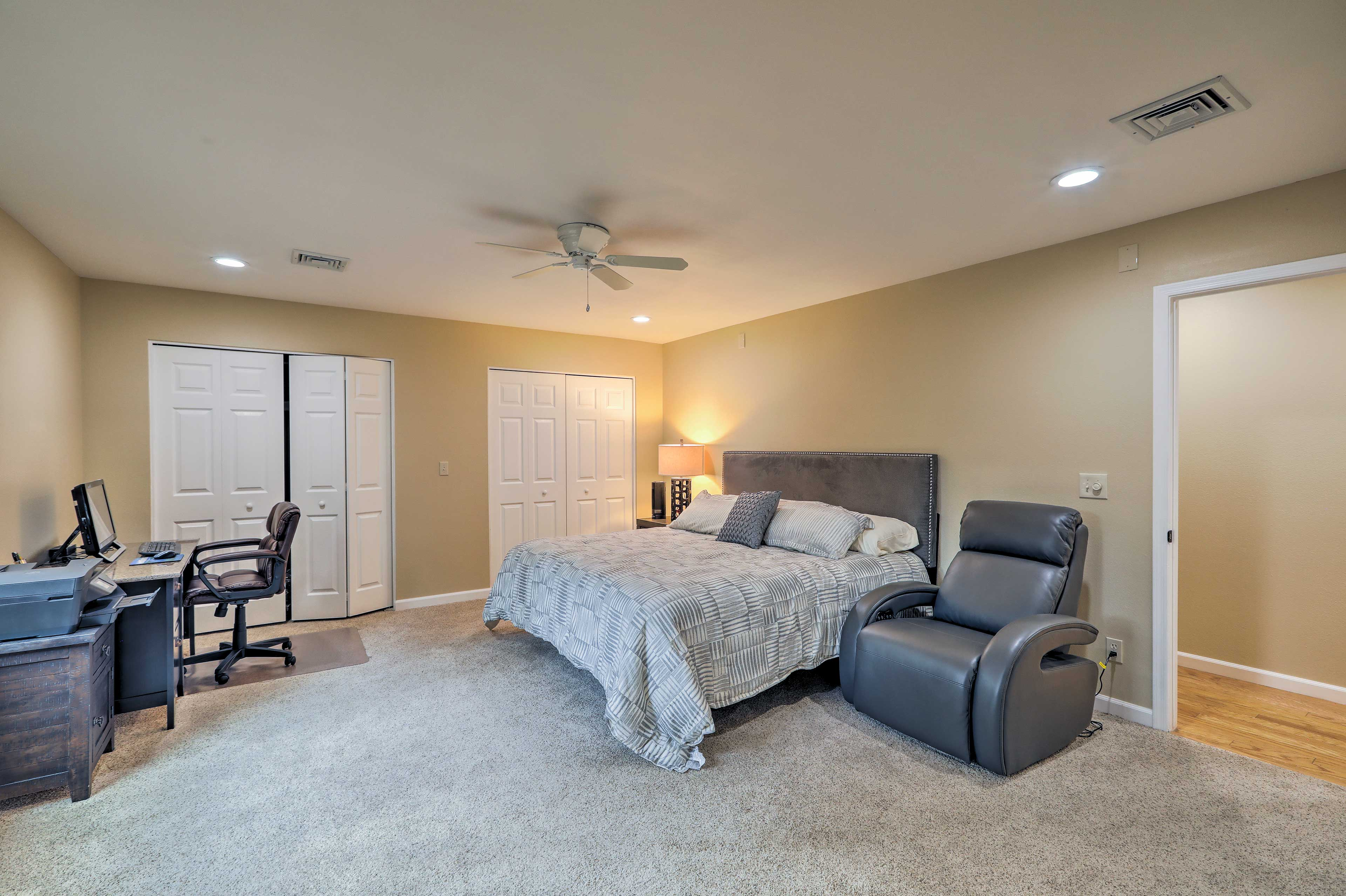 Choose from one of 4 bedrooms for a sound night's sleep.