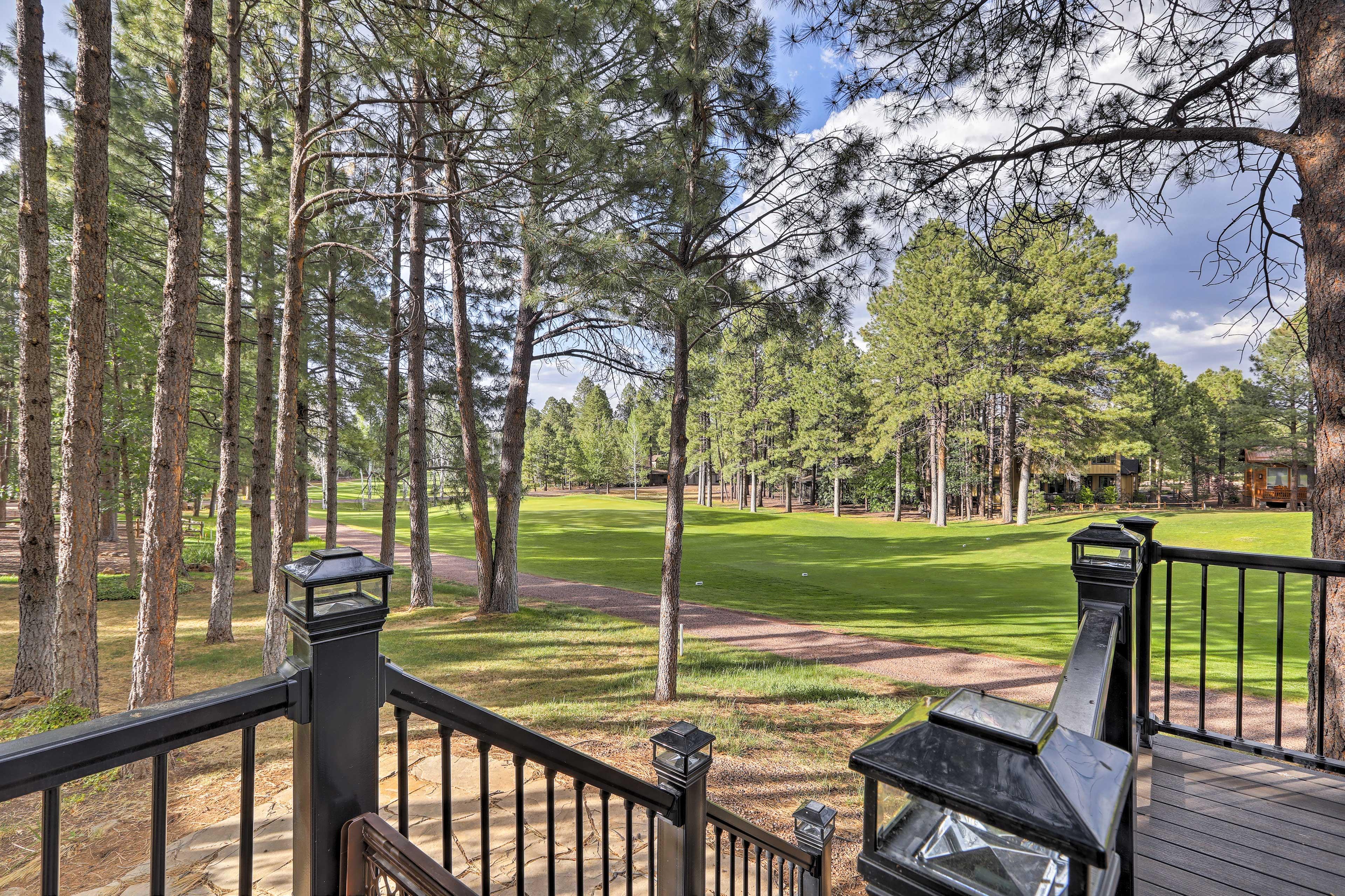 Enjoy views of the golf course.