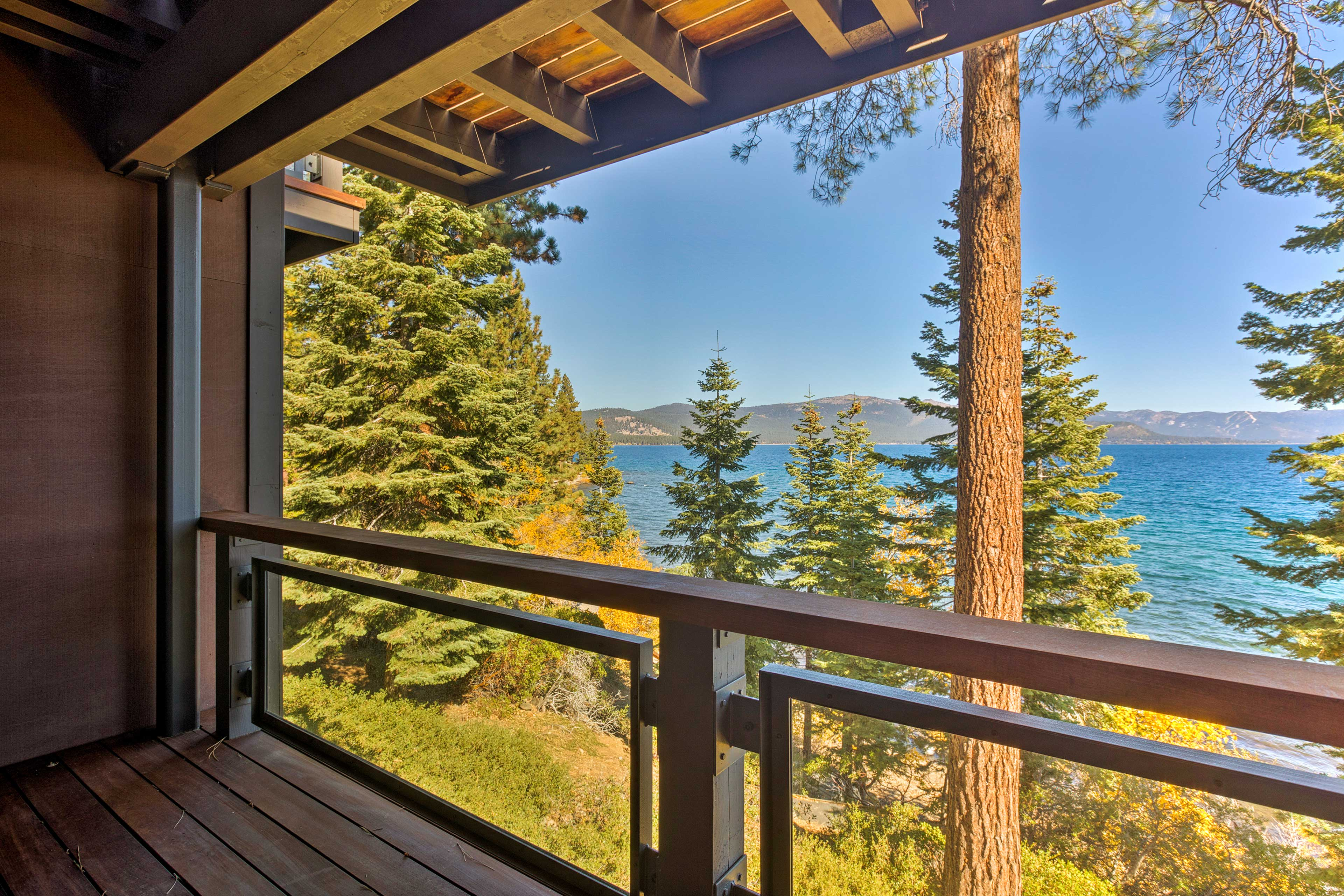 This private deck sits right off the master bedroom.