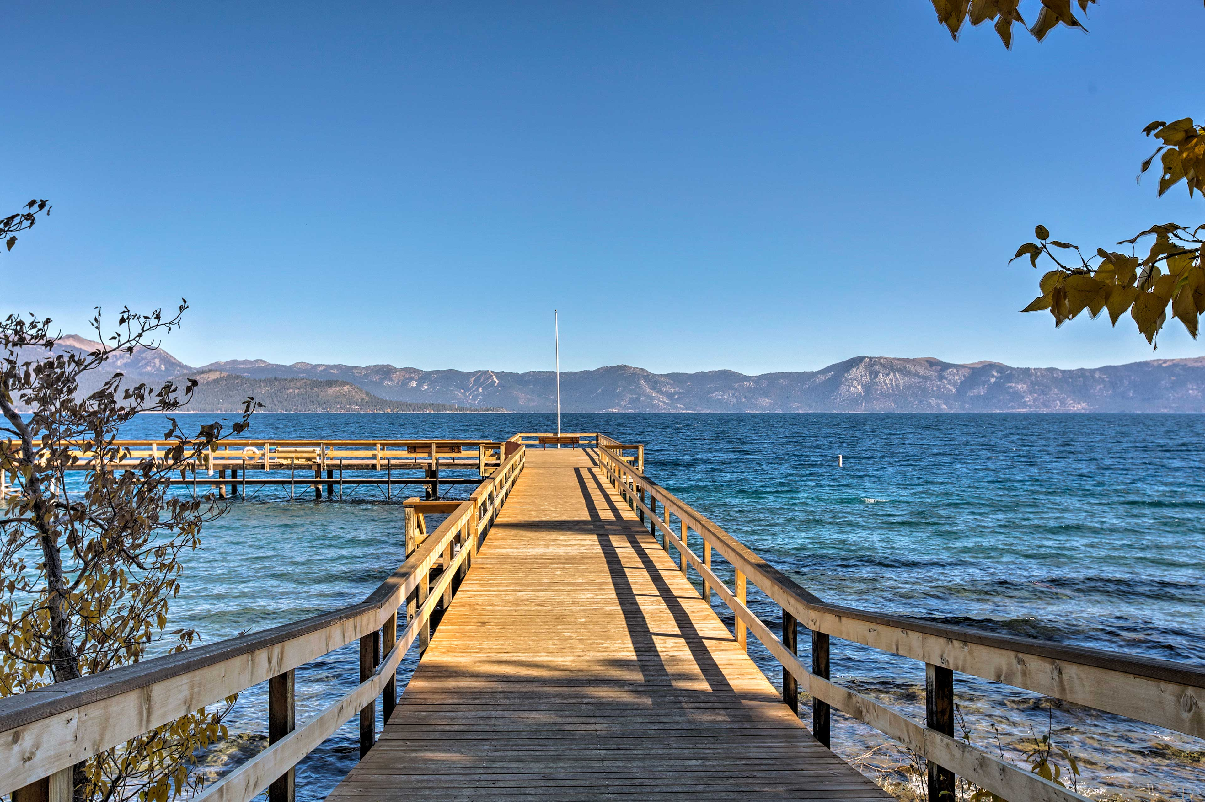 Enjoy access to 2 piers at this Lake Tahoe vacation rental.