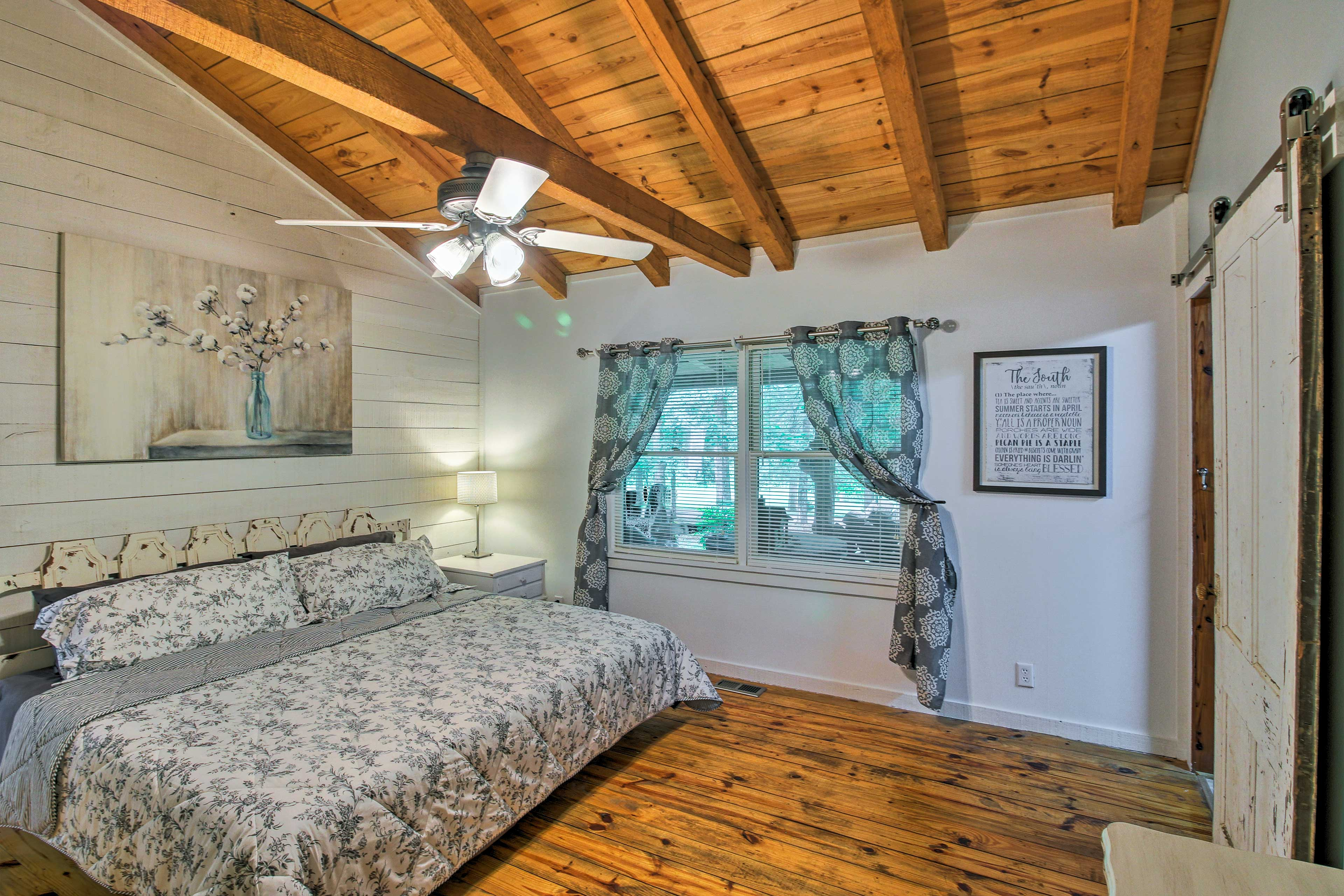 Perfect for couples, this room boasts a king bed.