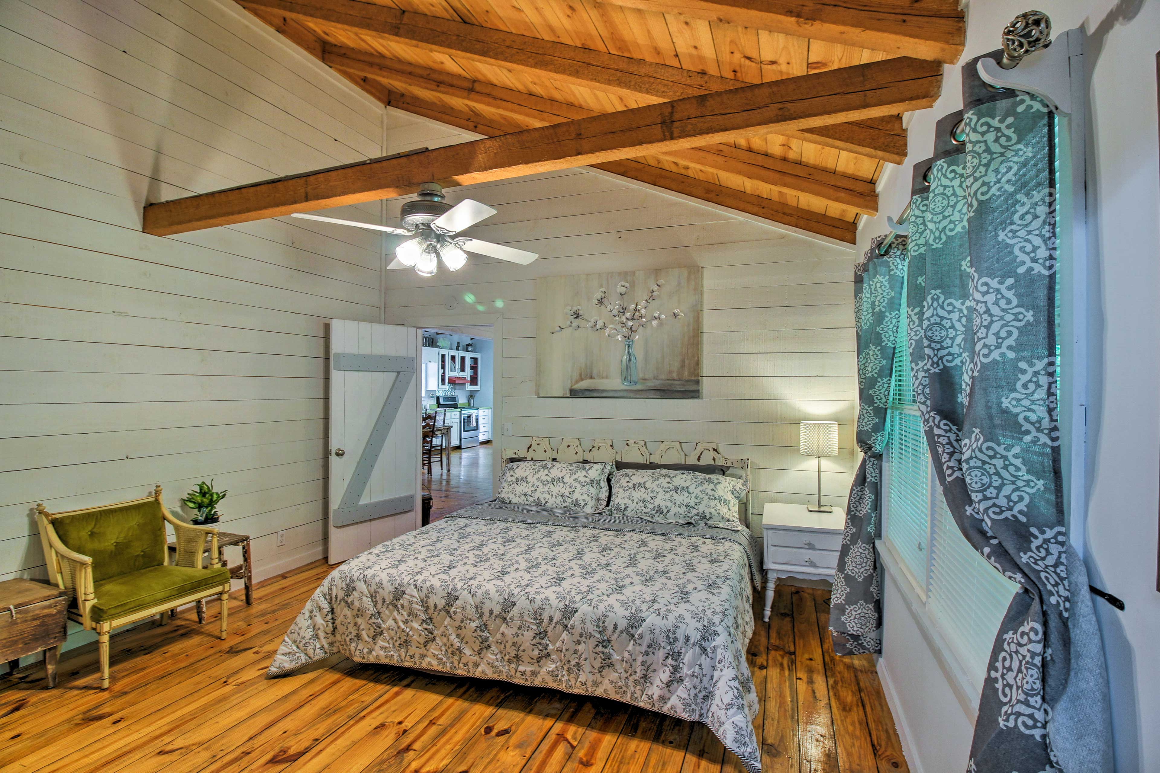 You'll drift effortlessly to sleep under the exposed beams.