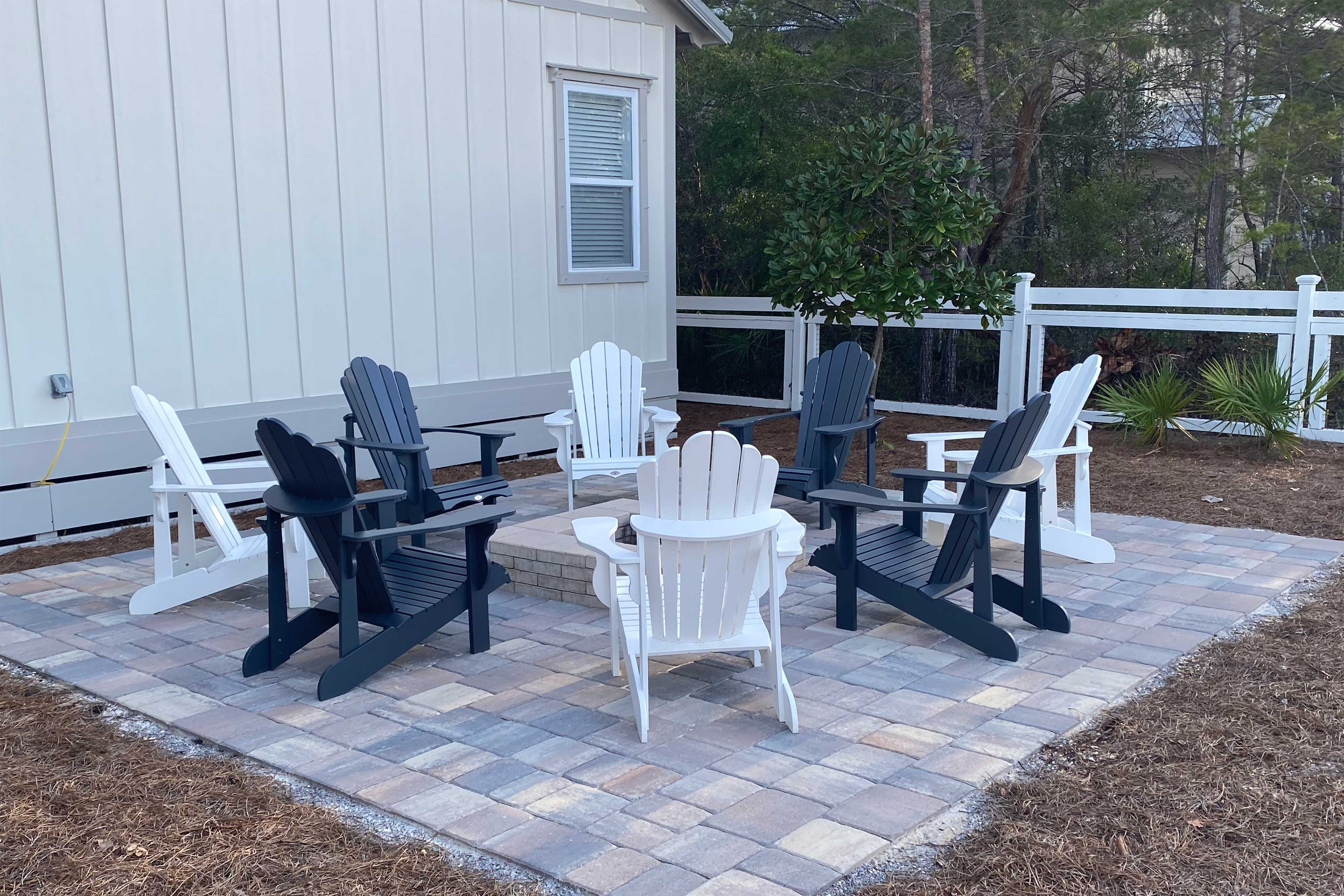 Spend quality time with your loved ones around the fire pit.