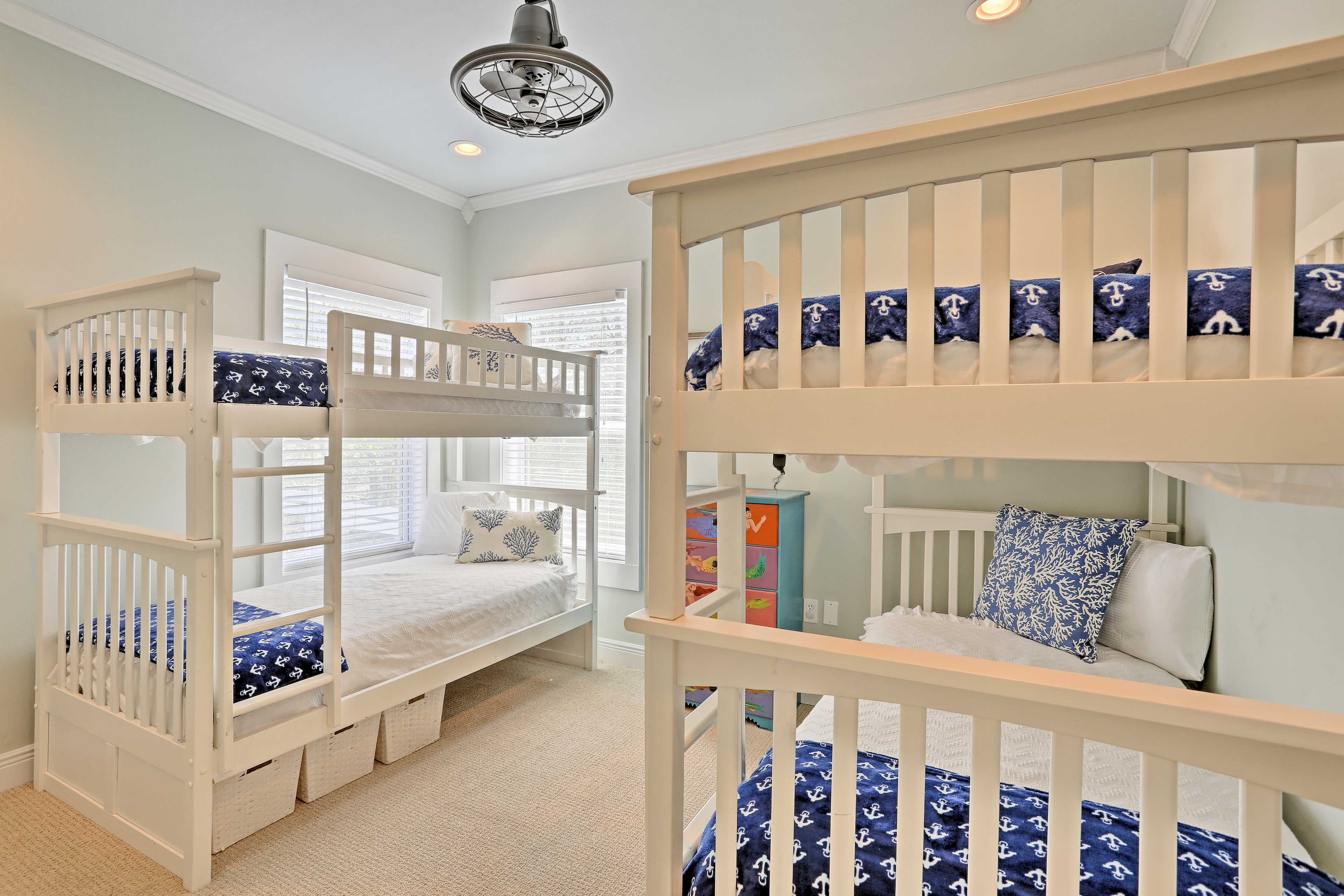 The bunkroom is perfect for kiddos!