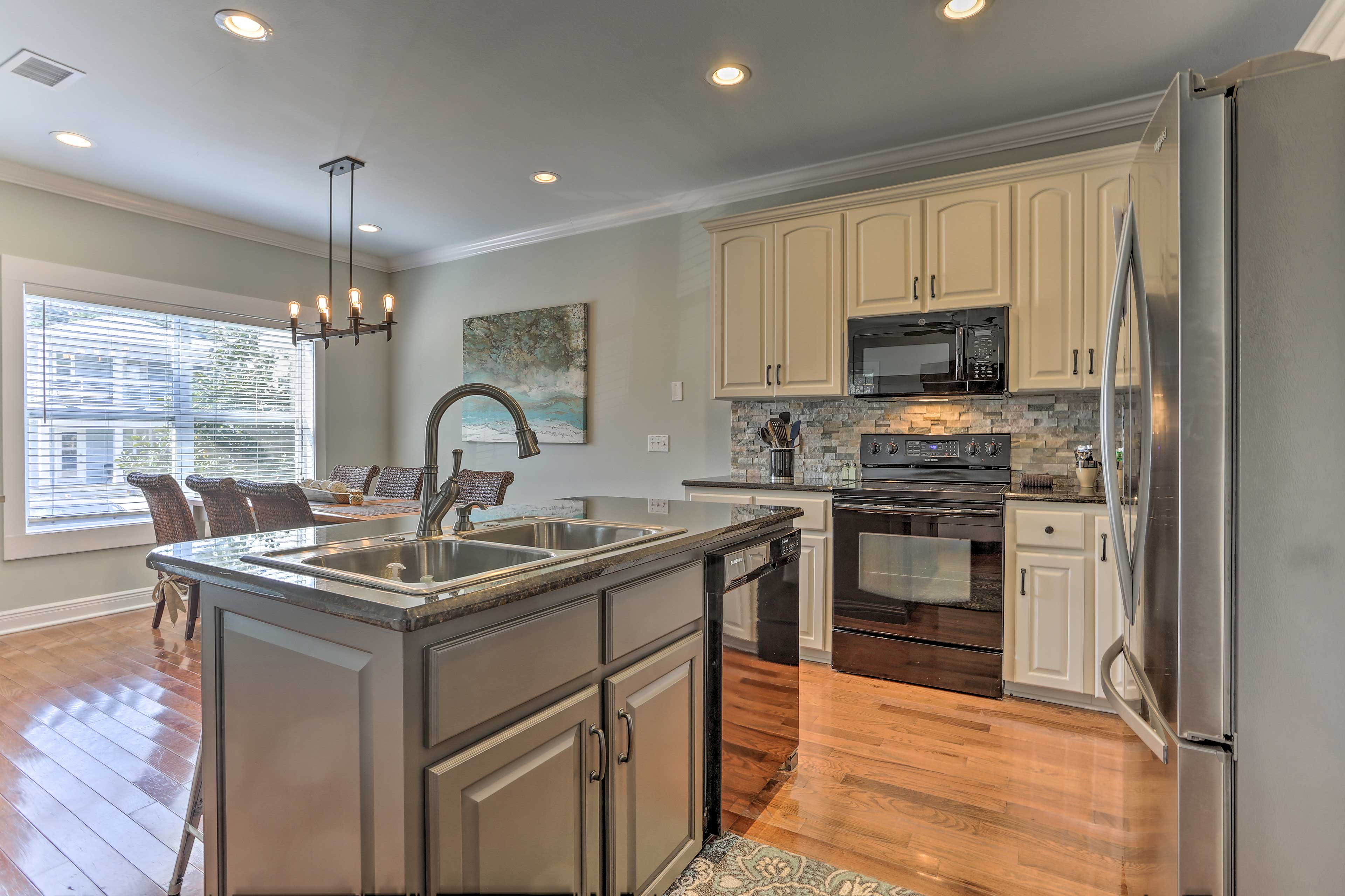 Whip up your favorite meals in the newly renovated kitchen!
