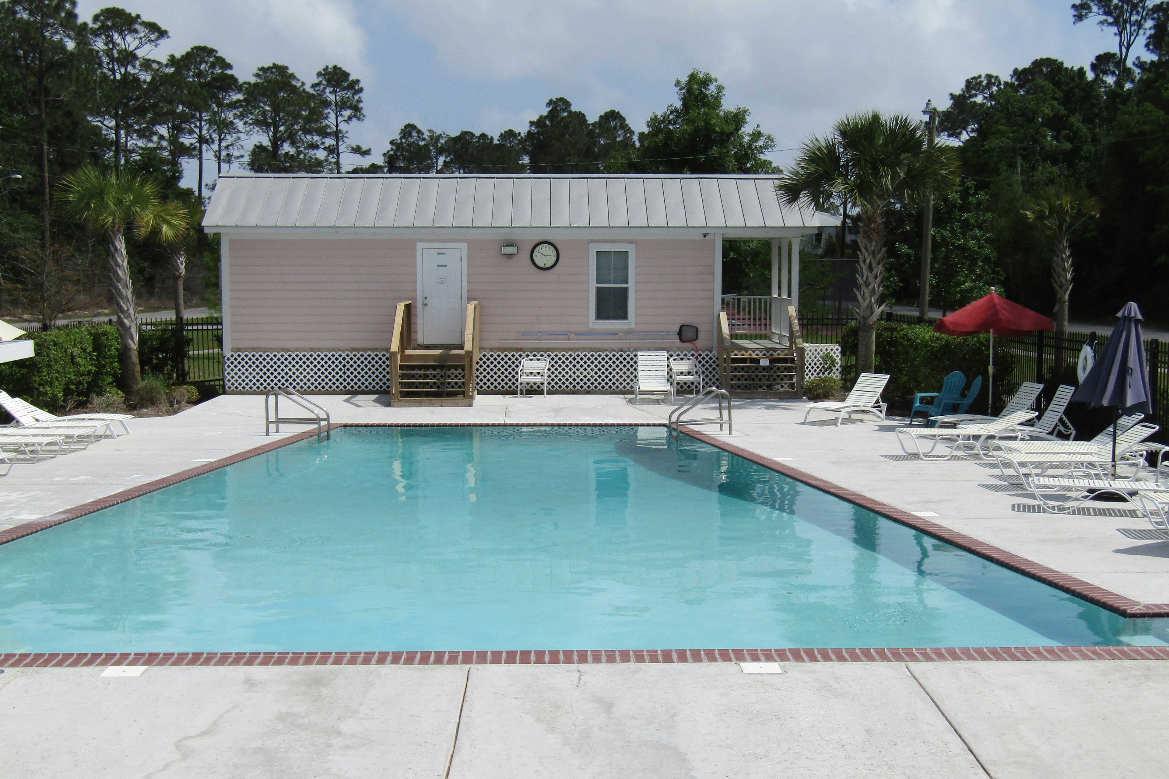 Go for a dip in the community pool to stay nice and cool.