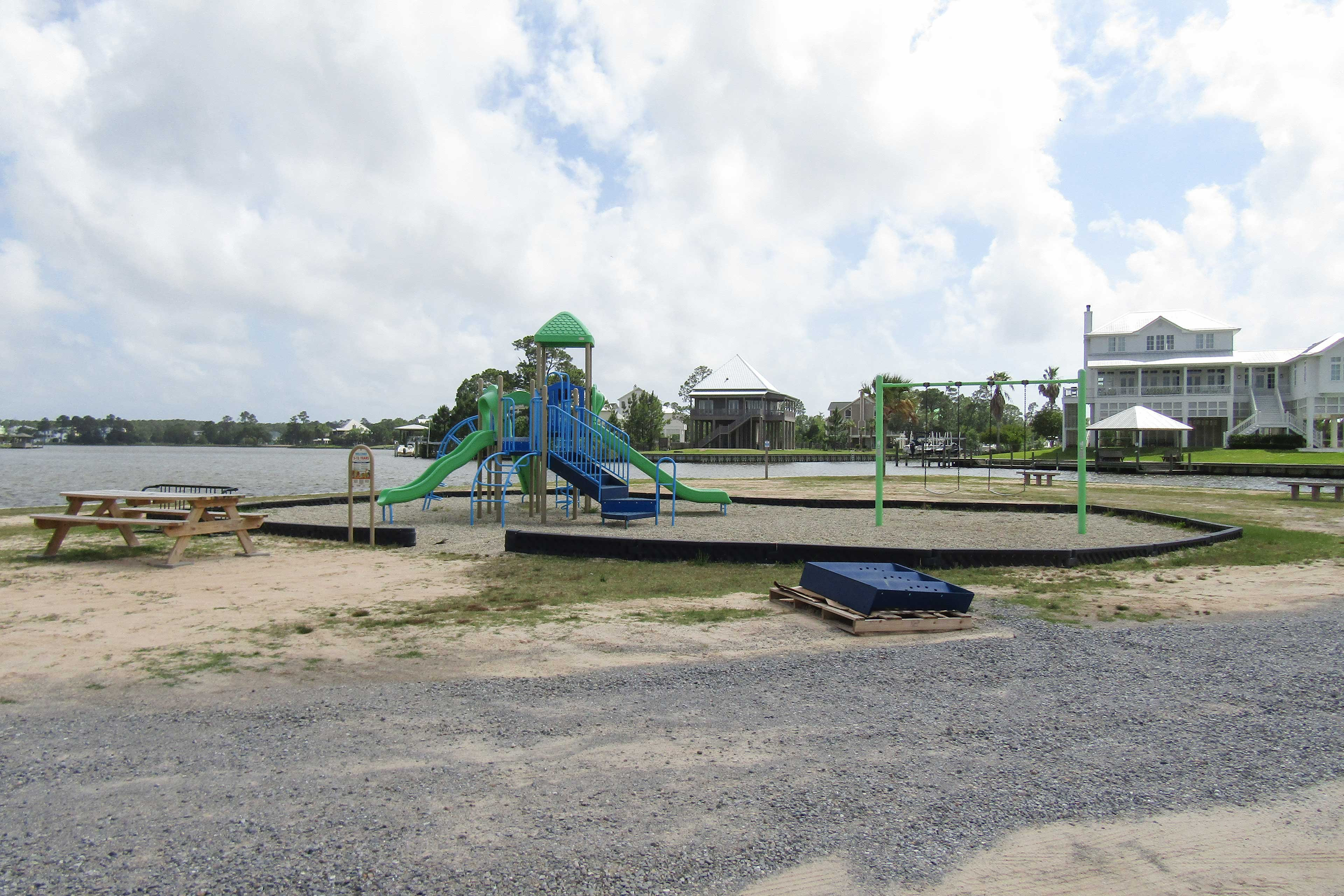 Let the kids run around on the playground and blow off energy.