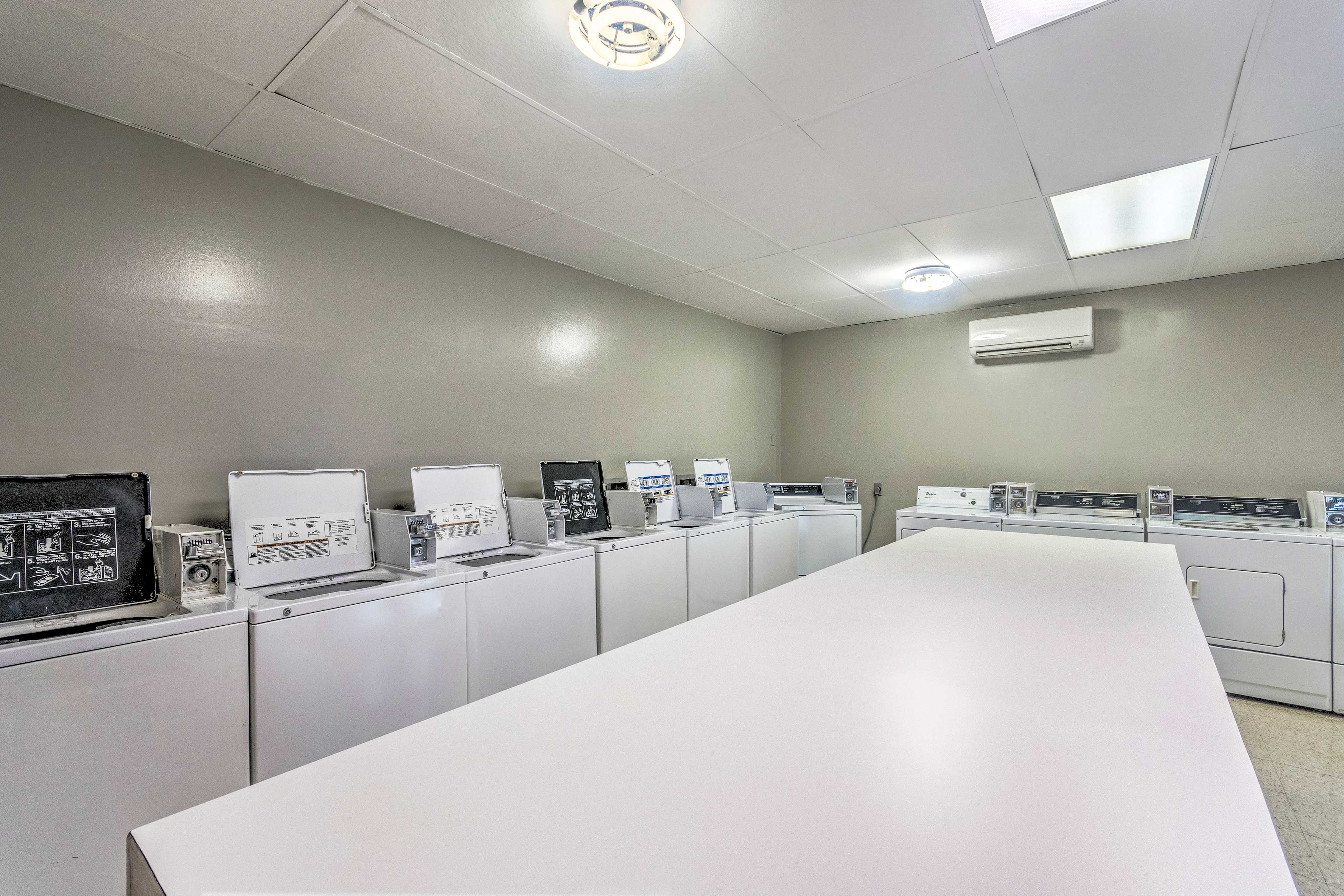 Coin-operated laundry machines are located onsite for your convenience.