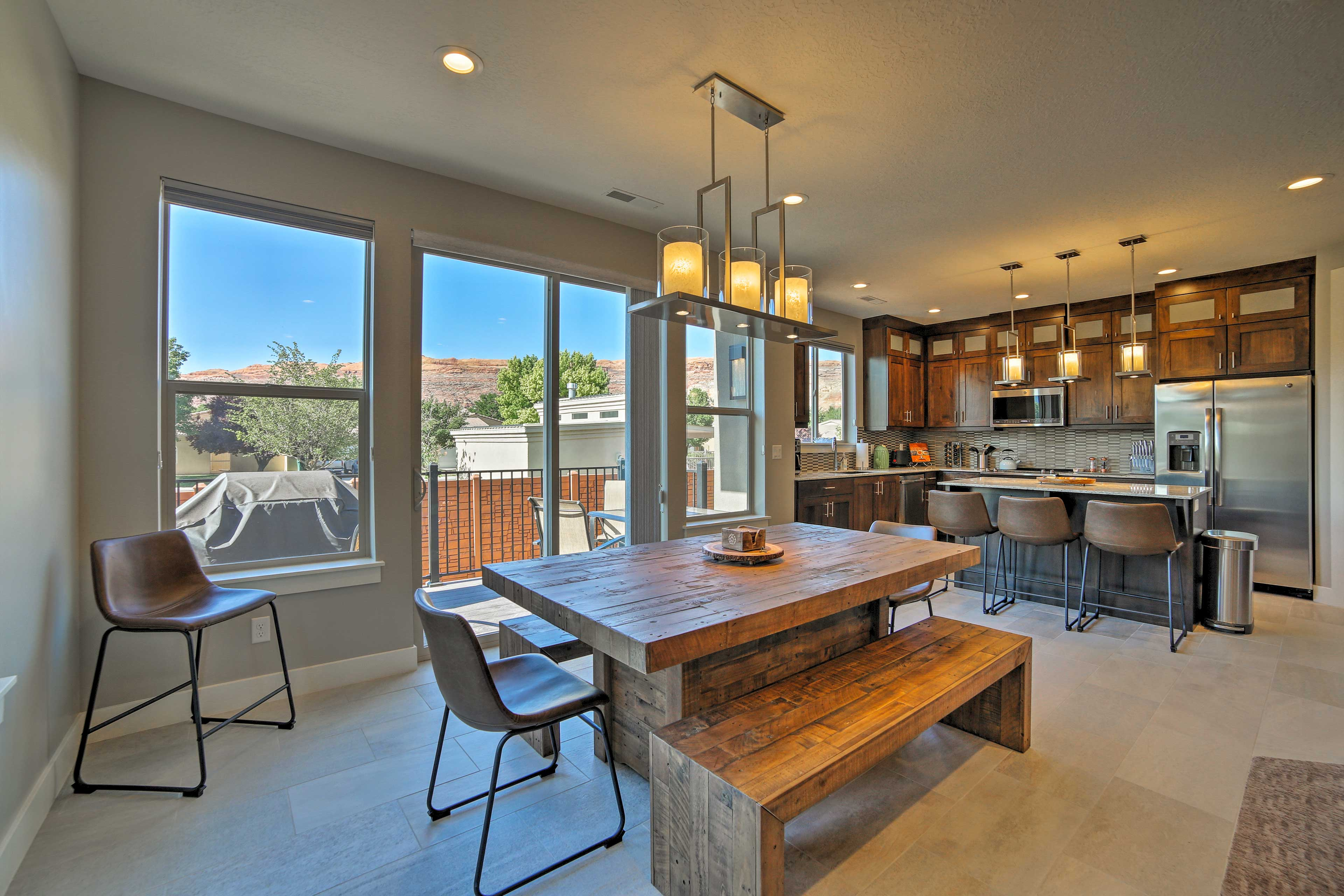 An epic stay awaits you at this 4-bedroom, 3-bath vacation rental townhome.
