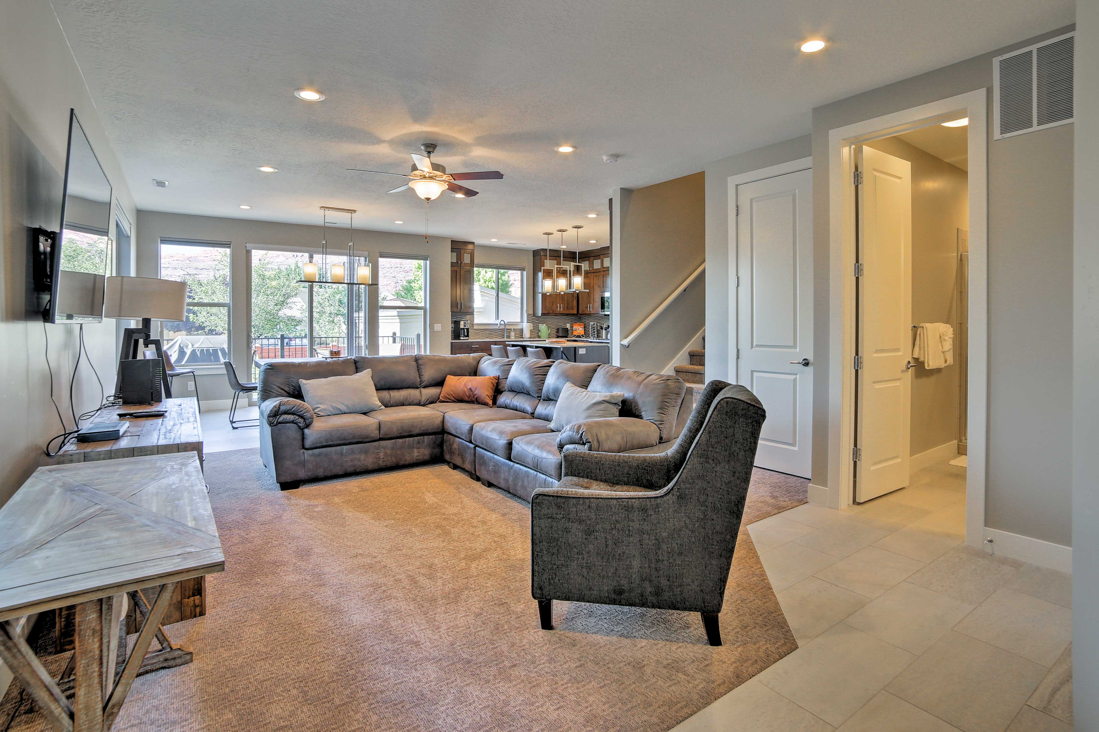 The property is newly constructed and designed with comfort in mind.