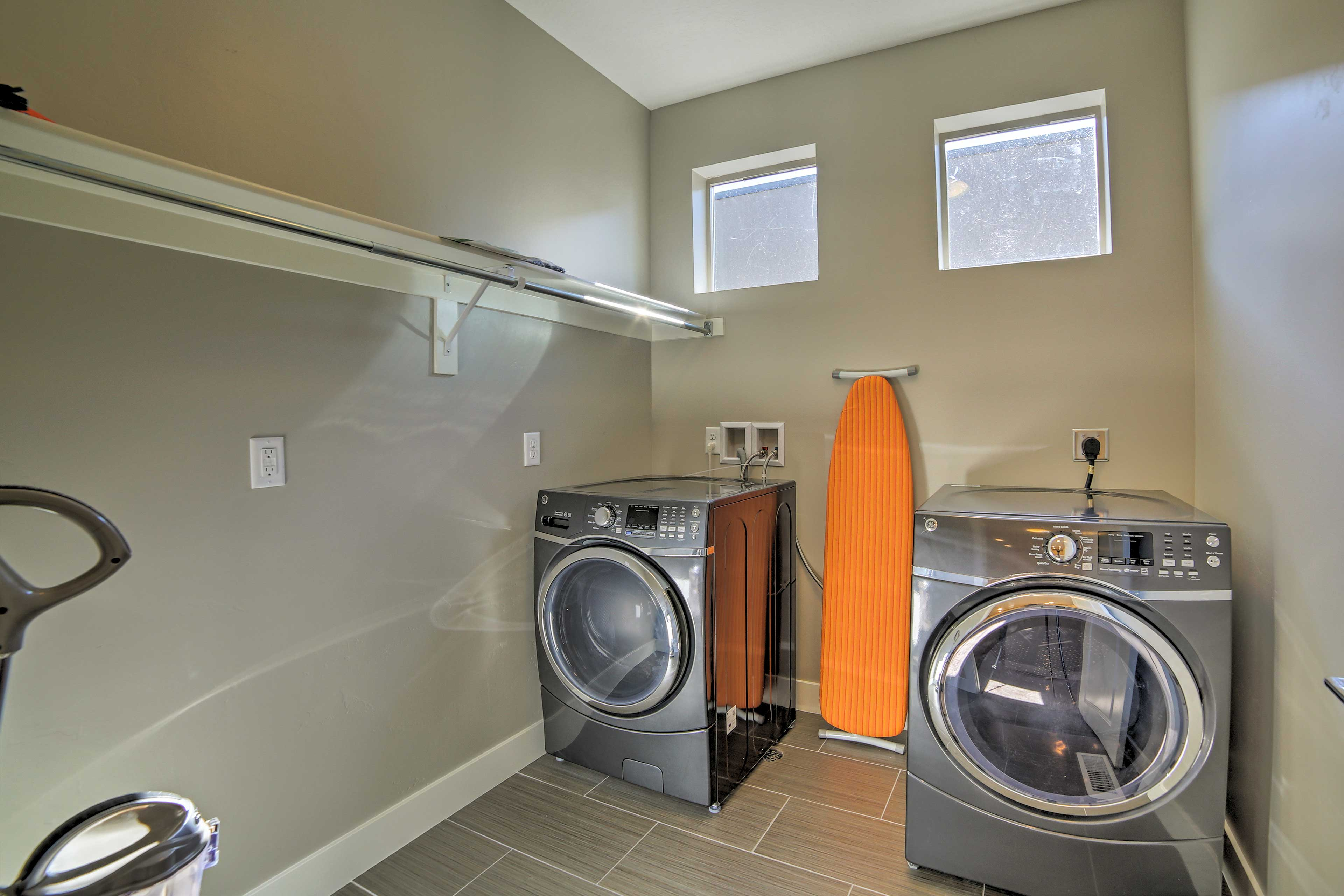 Keep your gear clean with the in-unit laundry machines.