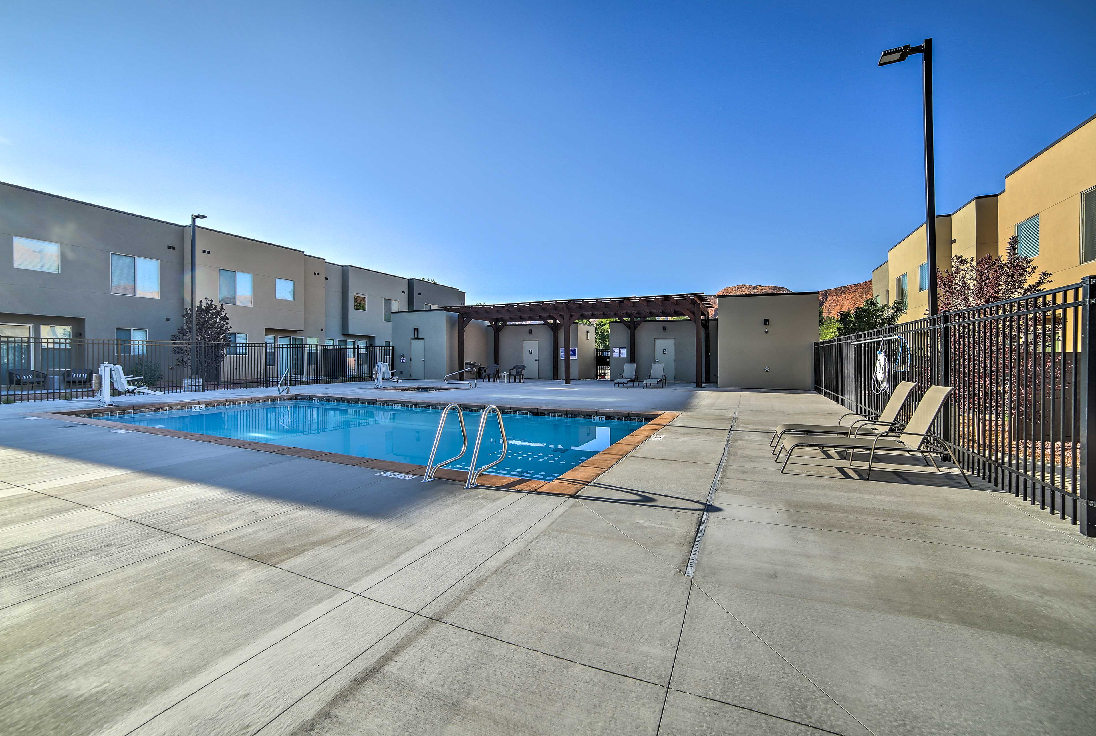 Grab one of the loungers and catch some rays next to the community pool.