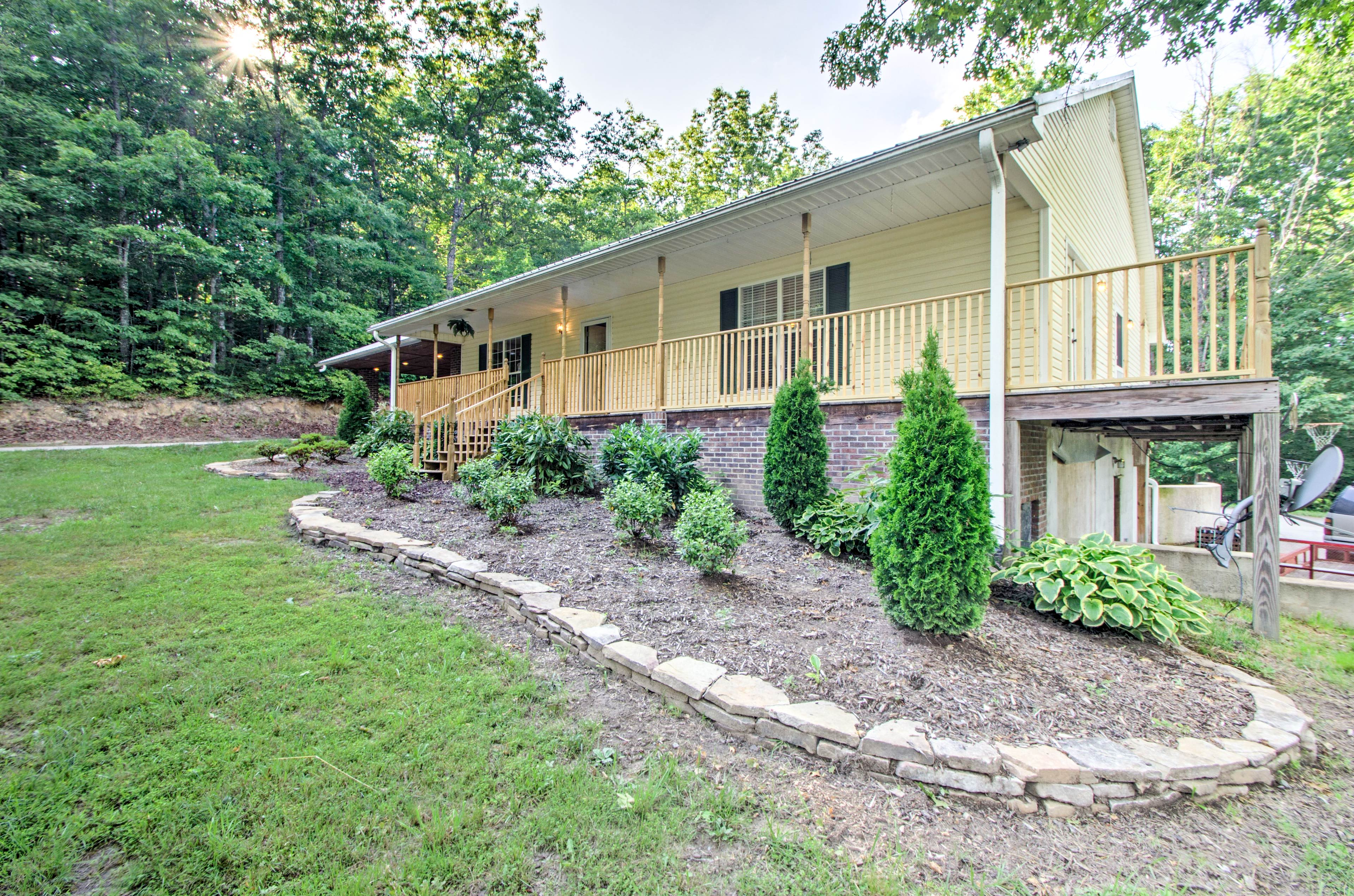 Explore beautiful Cedar Mountain from this well-appointed vacation rental home.