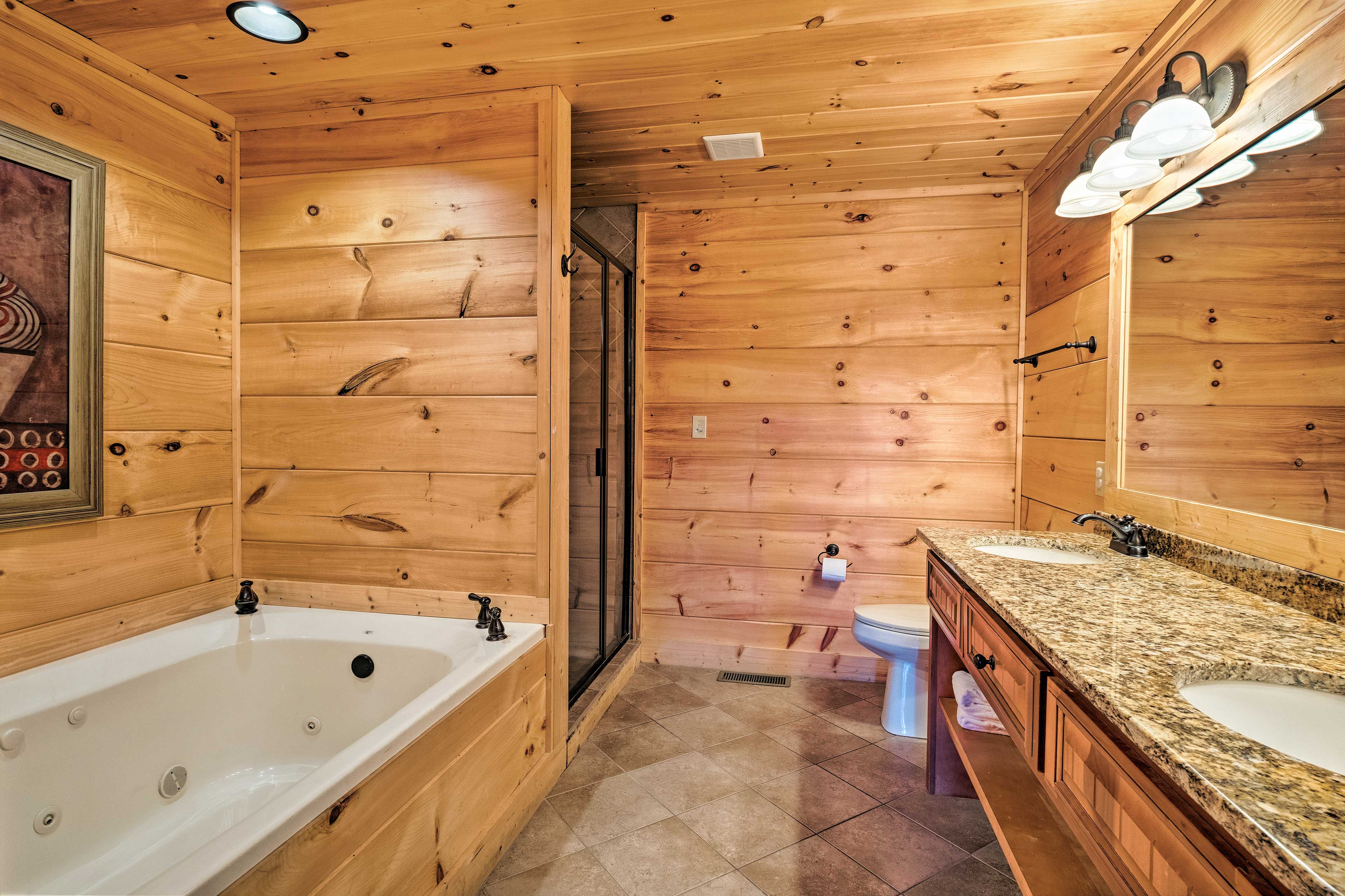 The jetted tub is the perfect alternative to the hot tub.