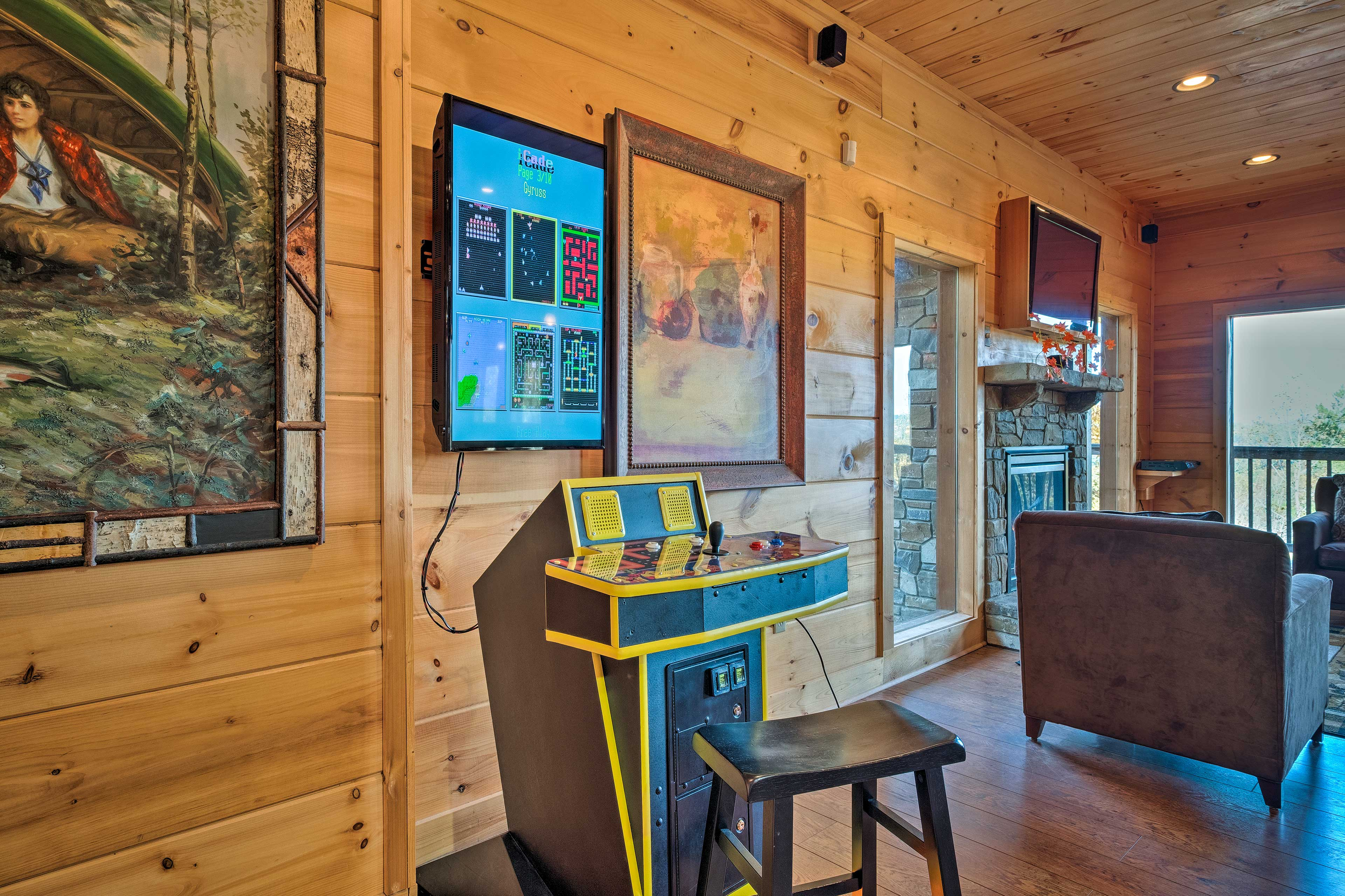 Step back in time with a game on this old fashioned arcade game.