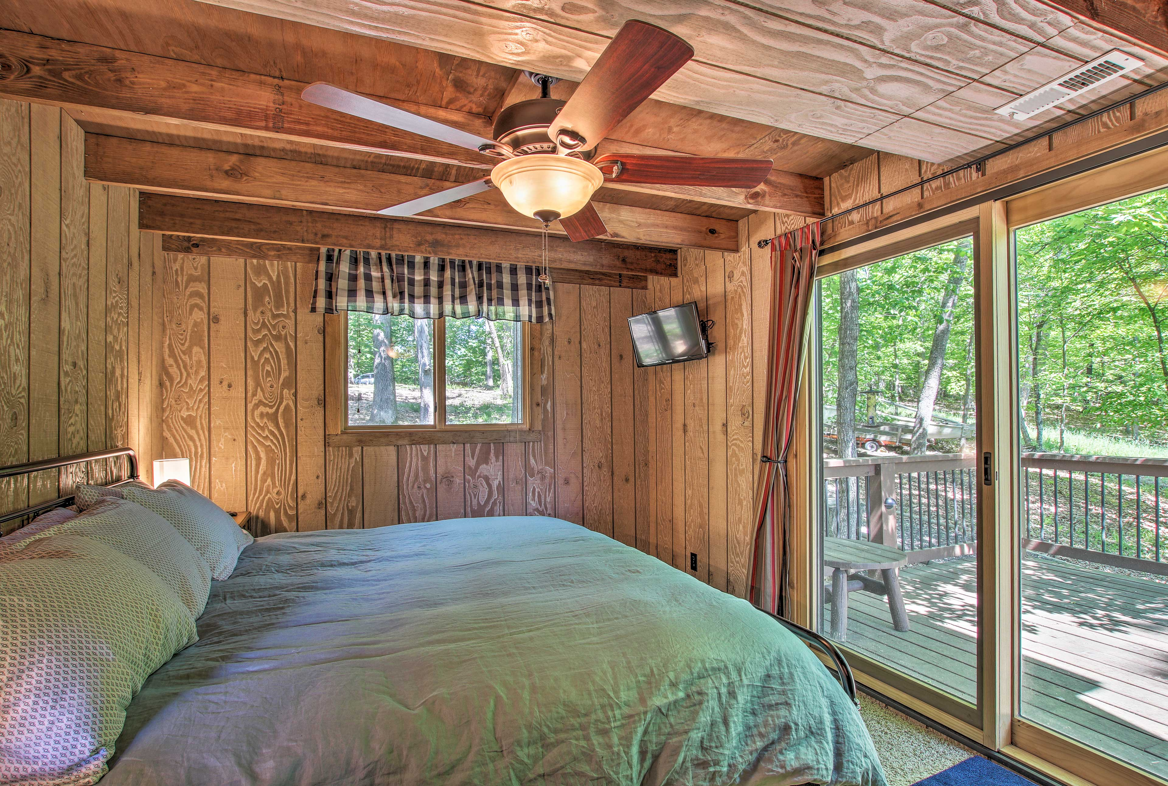 The bedroom now features a king-sized bed that easily accommodates 2 guests.