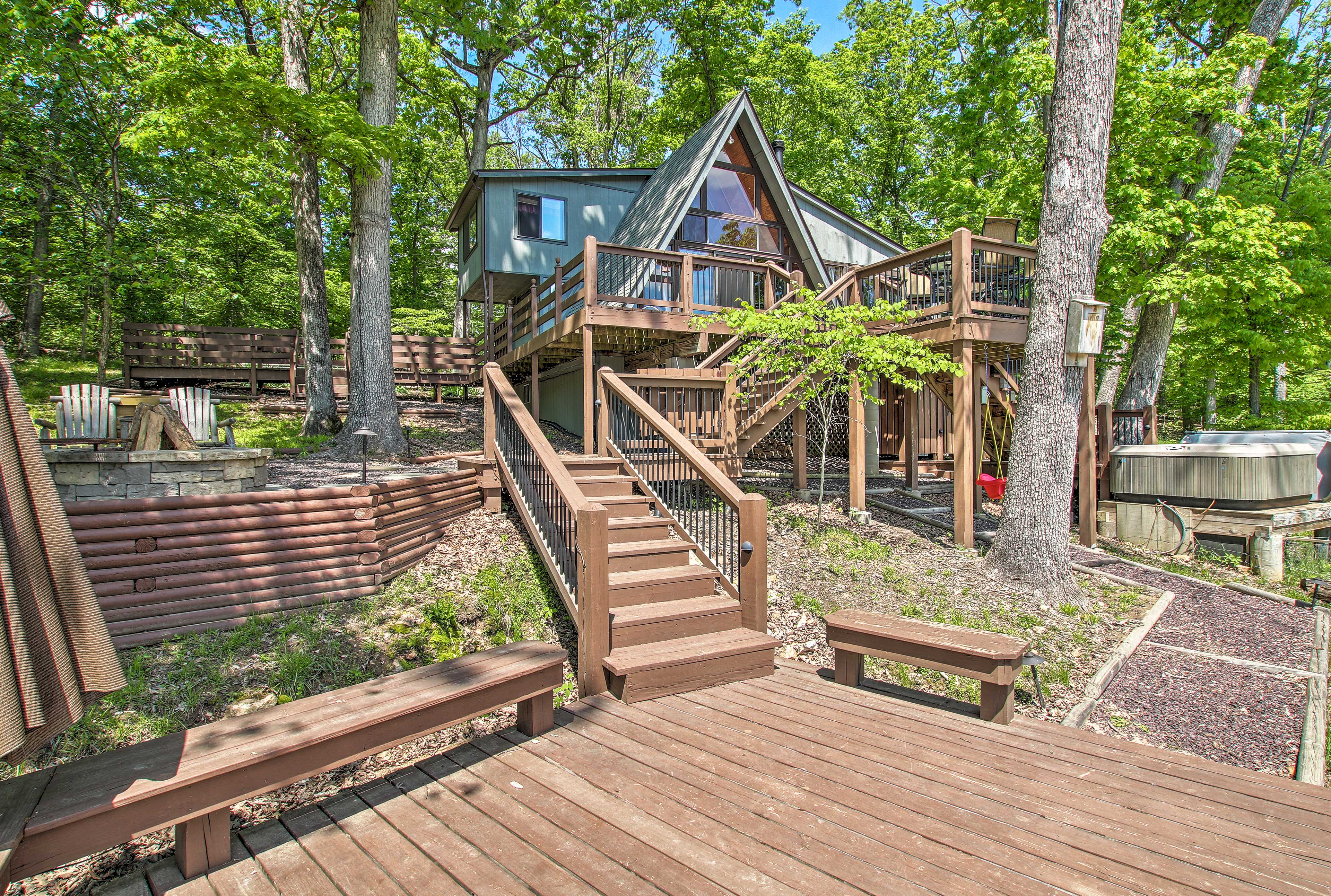Book the vacation of a lifetime at this one-of-a-kind cabin at Innsbrook Resort.