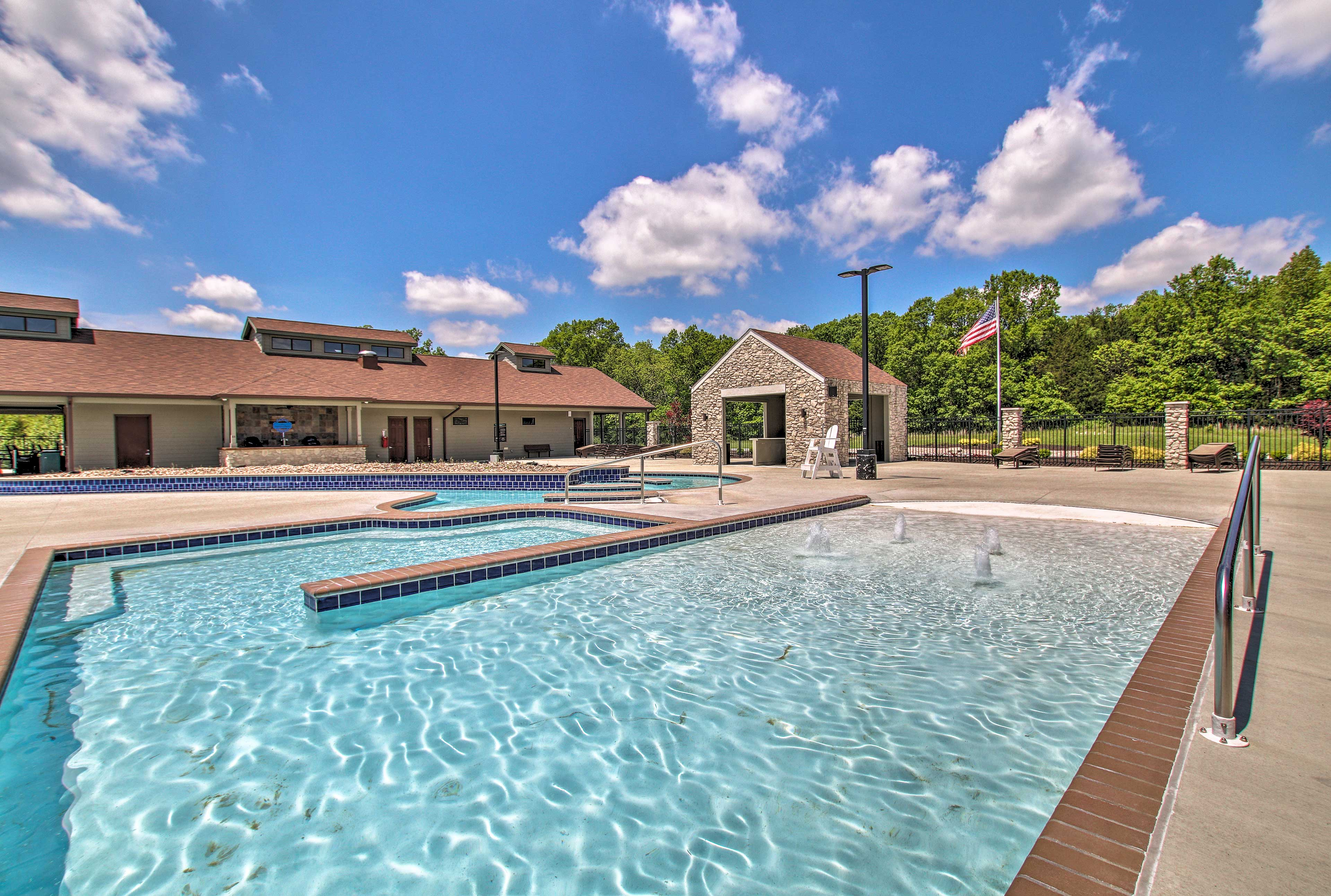 Enjoy access to the resort pool.