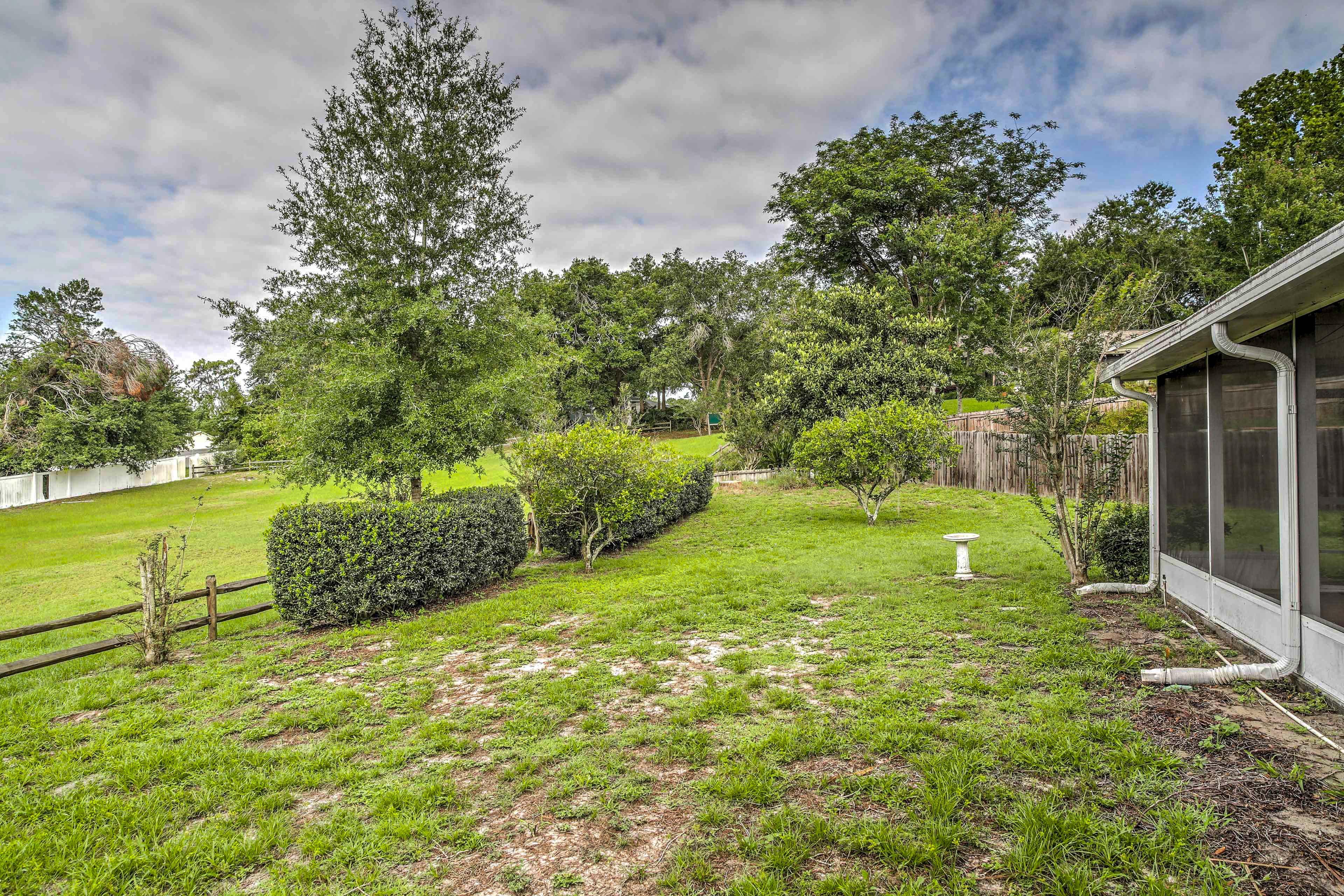 Lush landscapes surround the property!