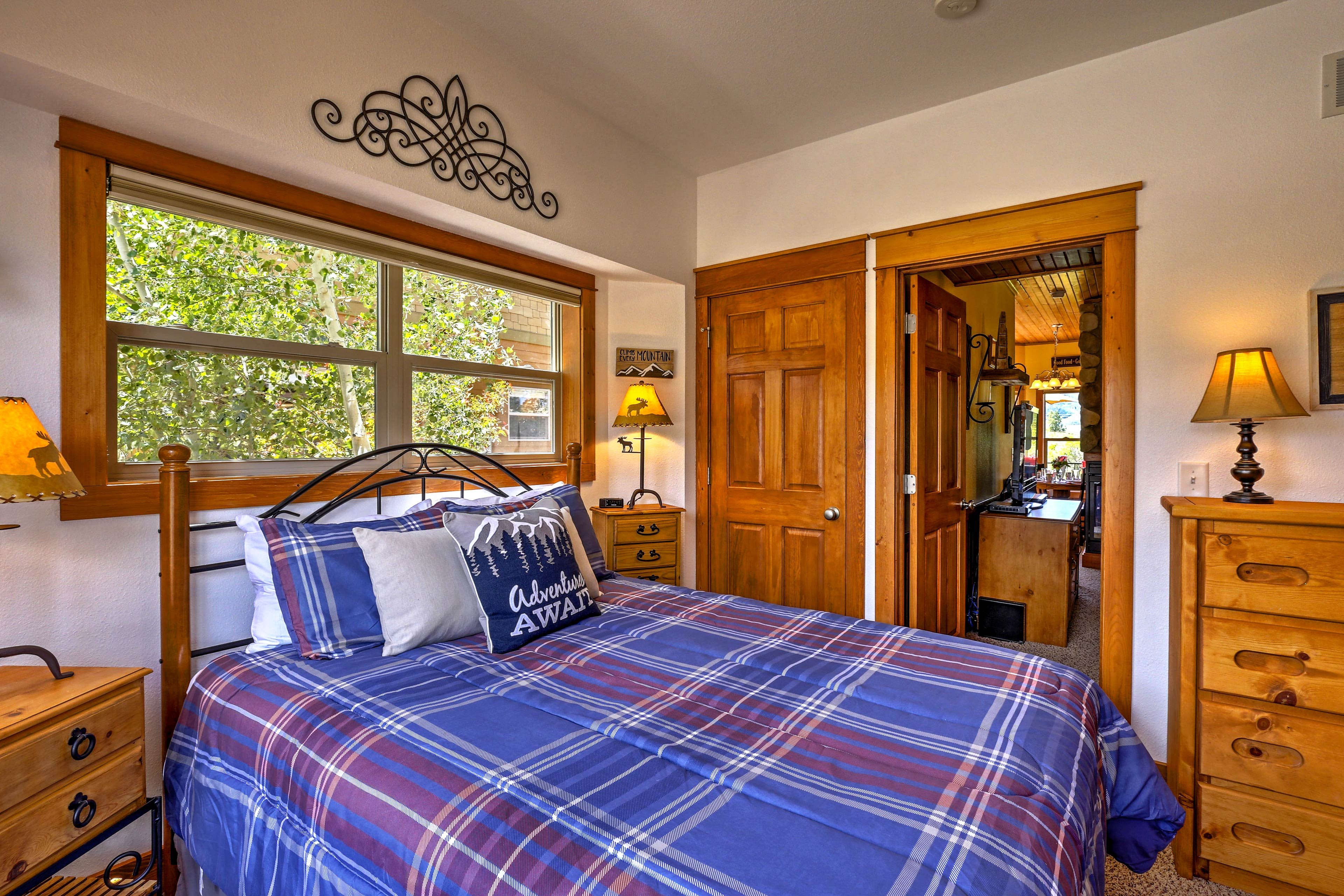 Restful slumbers await in the queen bed of the second bedroom.