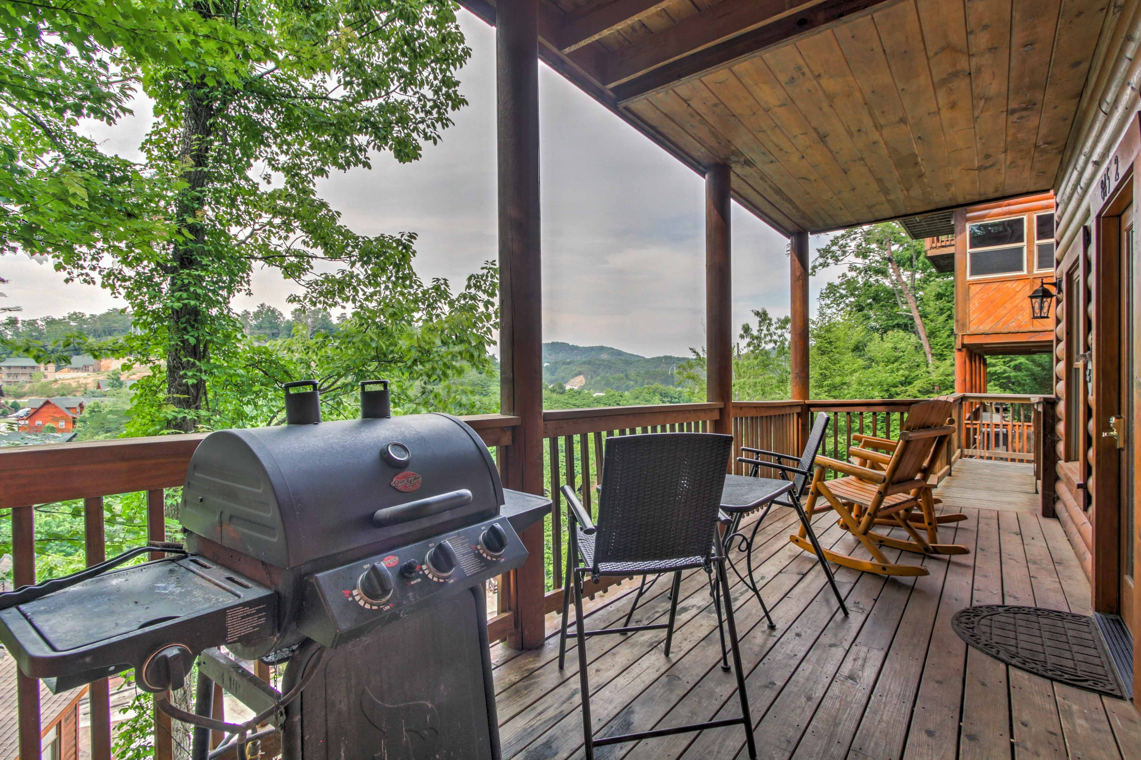 Deck | Grilling Station | Mountain Views