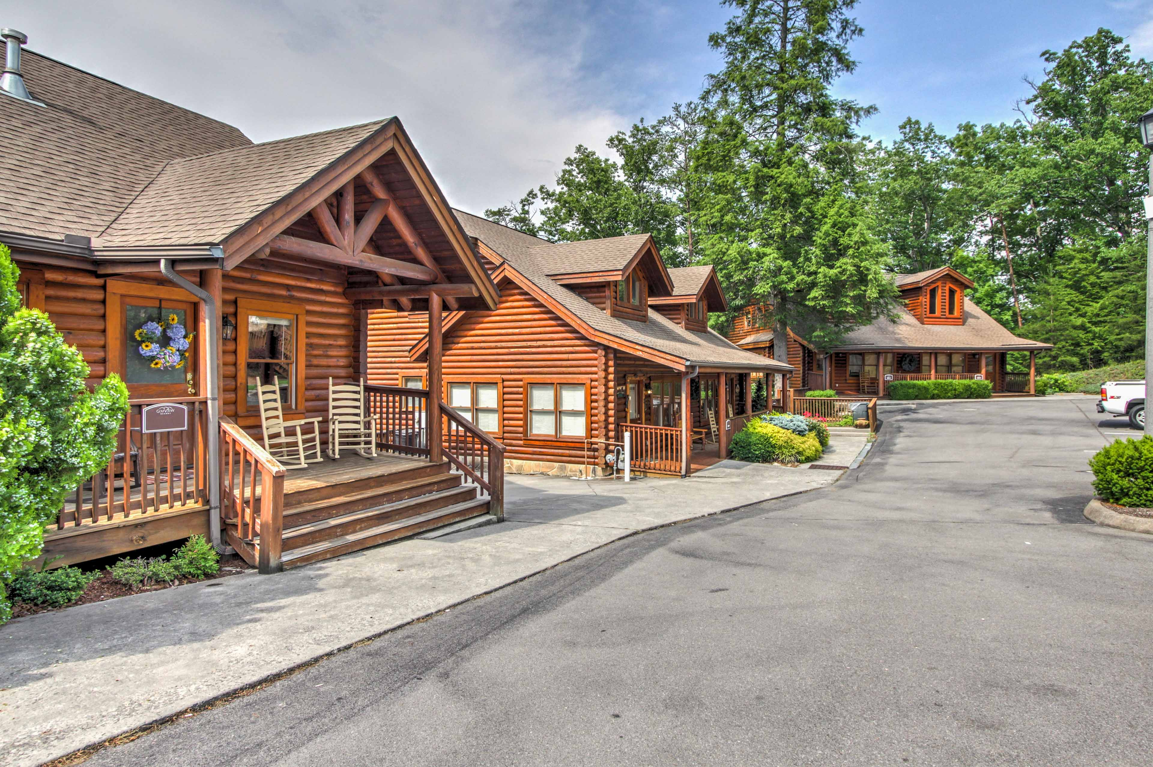 Townhome Exterior | Community Parking Lot