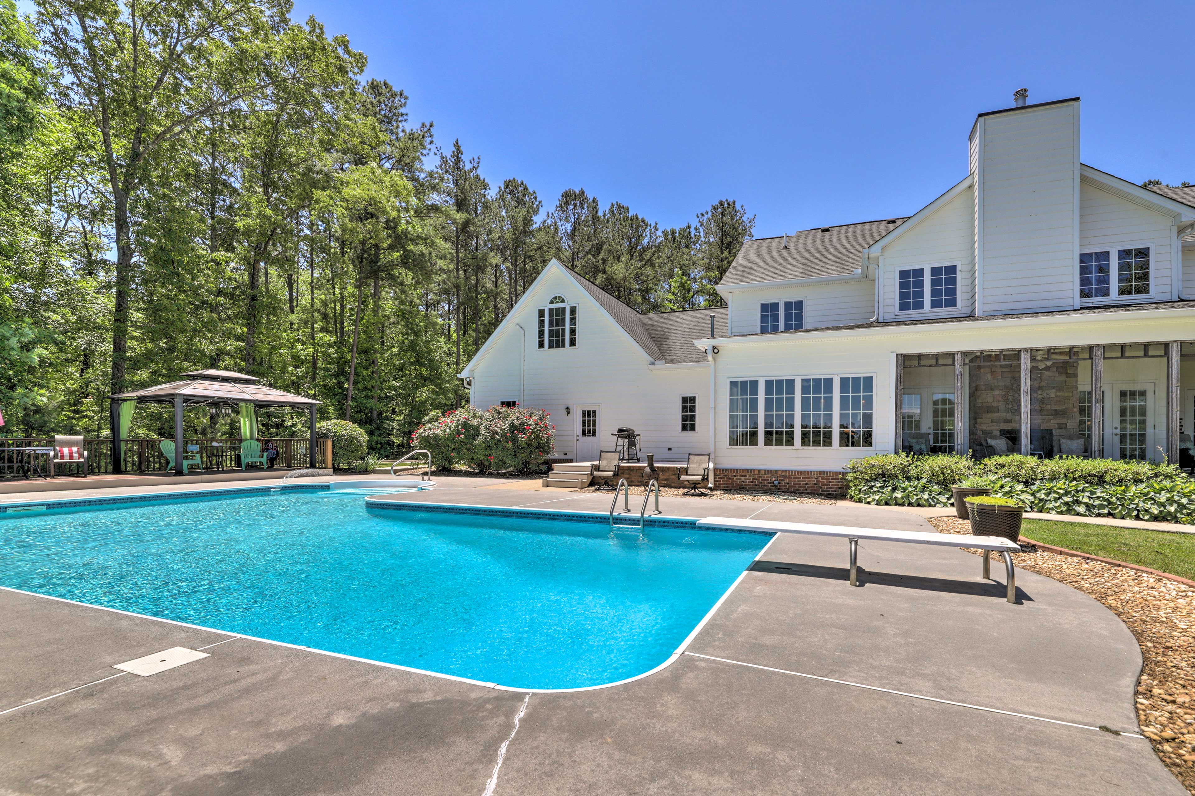 In the summertime, this private pool is sure to be a hit!