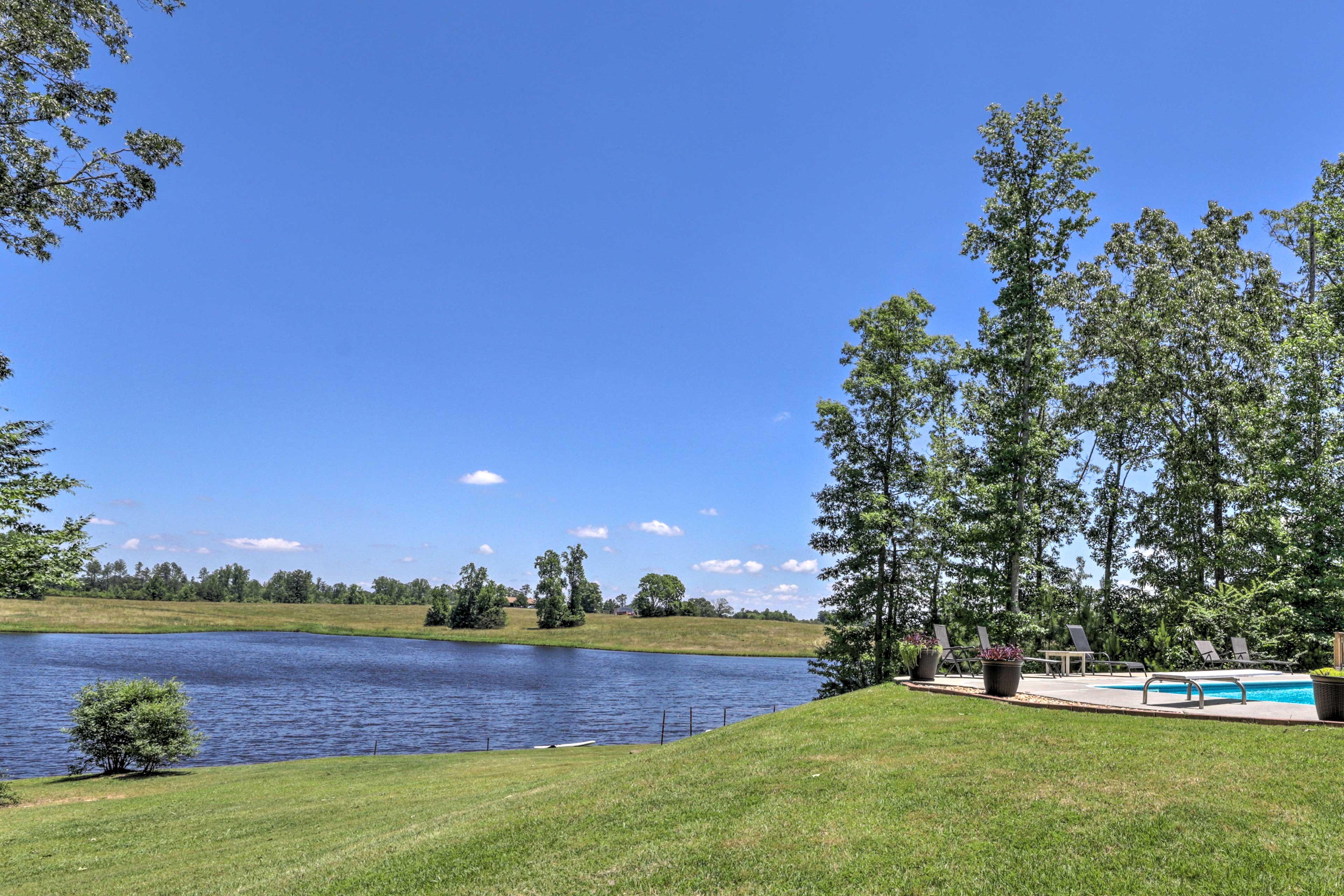 Enjoy long days fishing and boating on the beautiful lake.