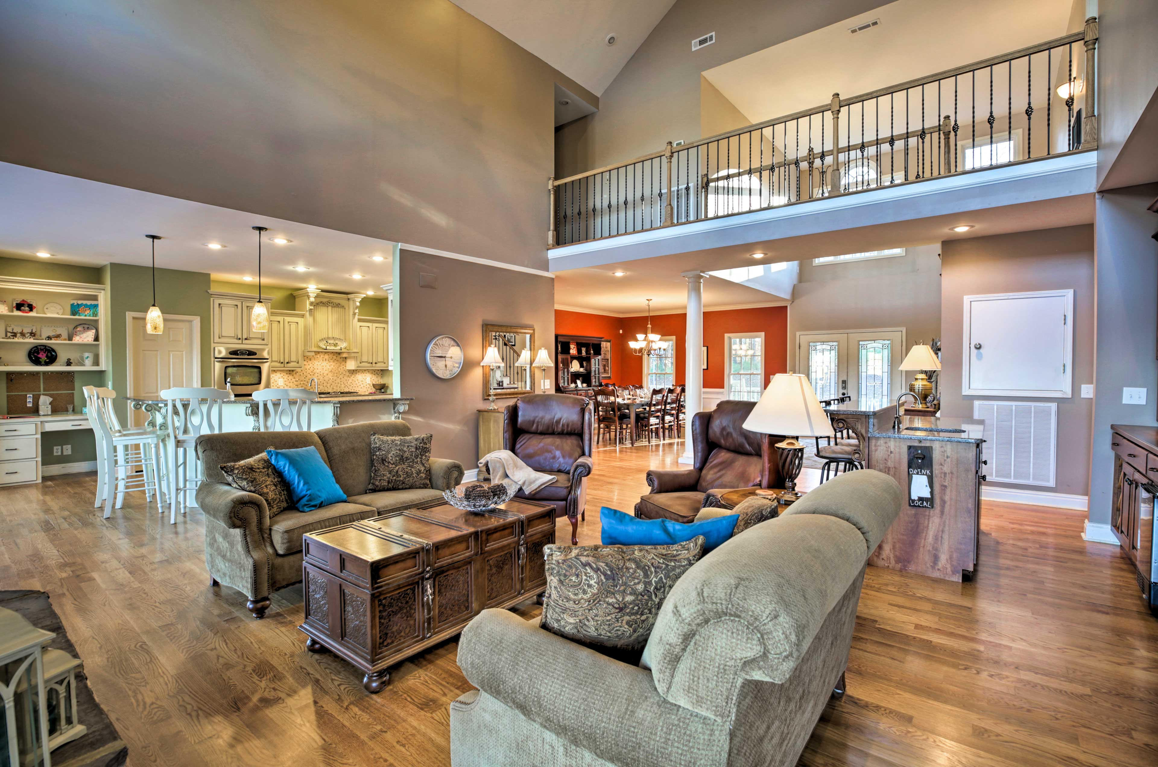 The 4-bedroom property features 4,000 square feet and sleeps 11 guests.