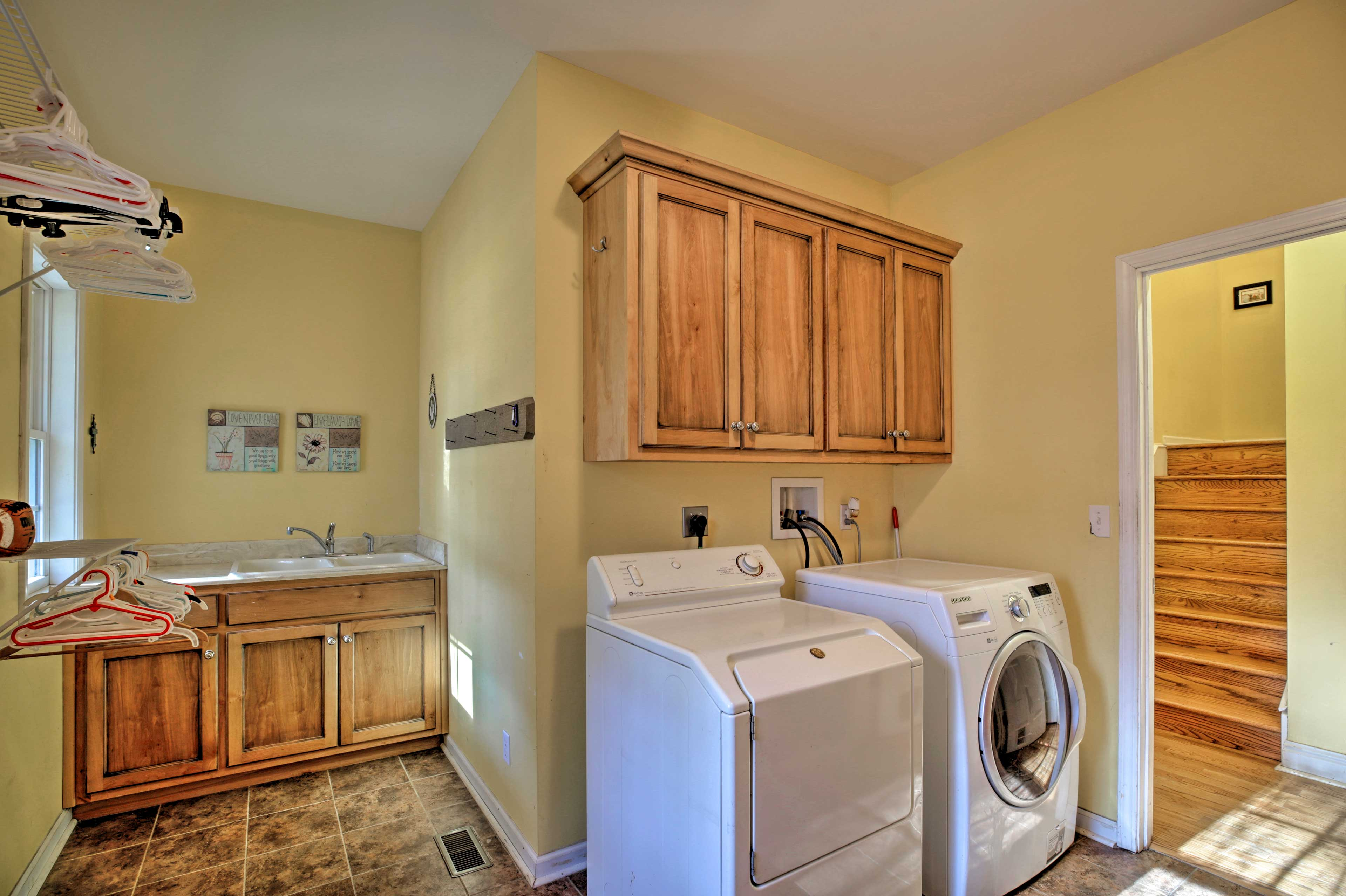 Pack light and utilize the washer and dryer.