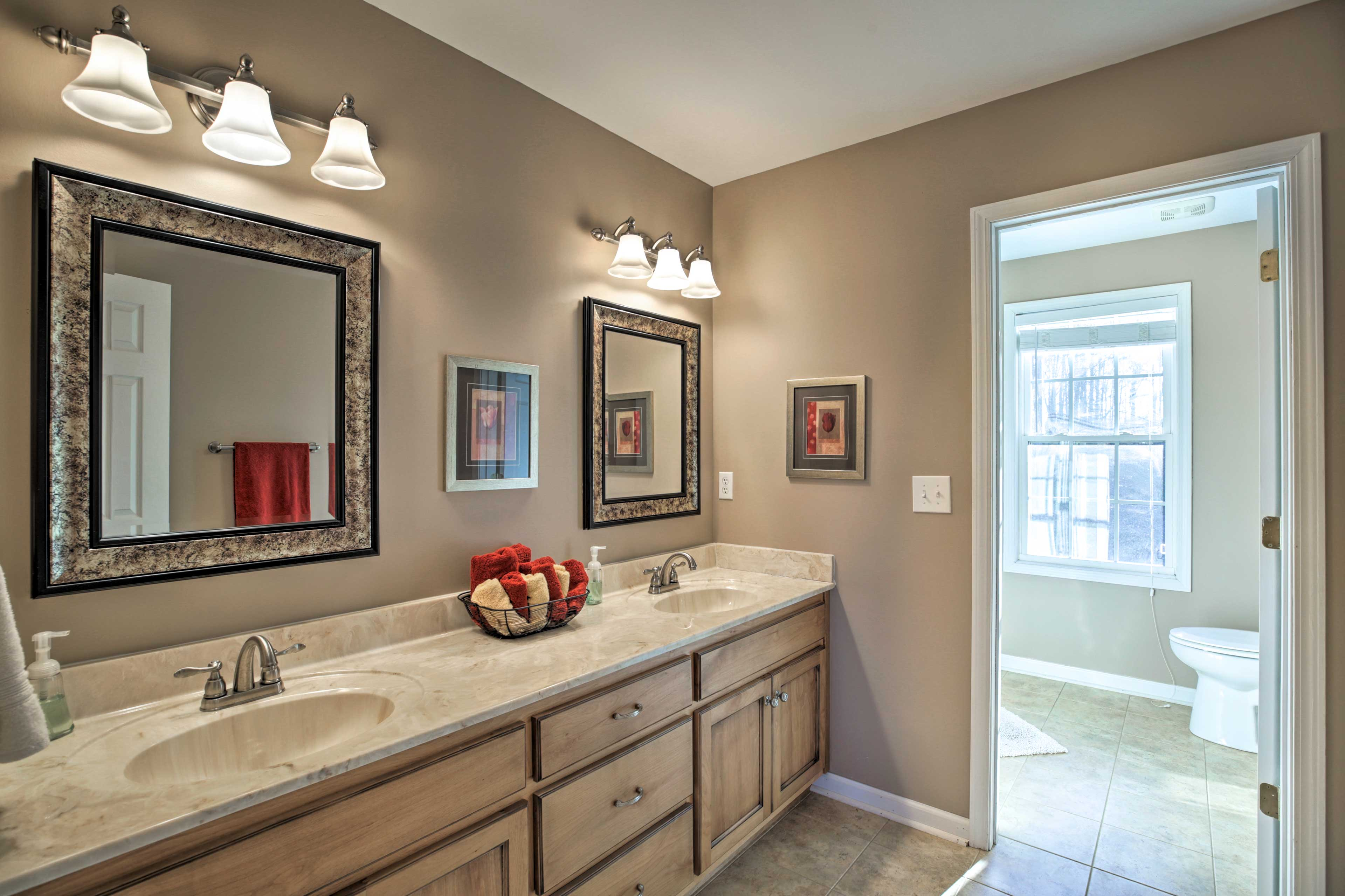 The second full bathroom includes double sinks.