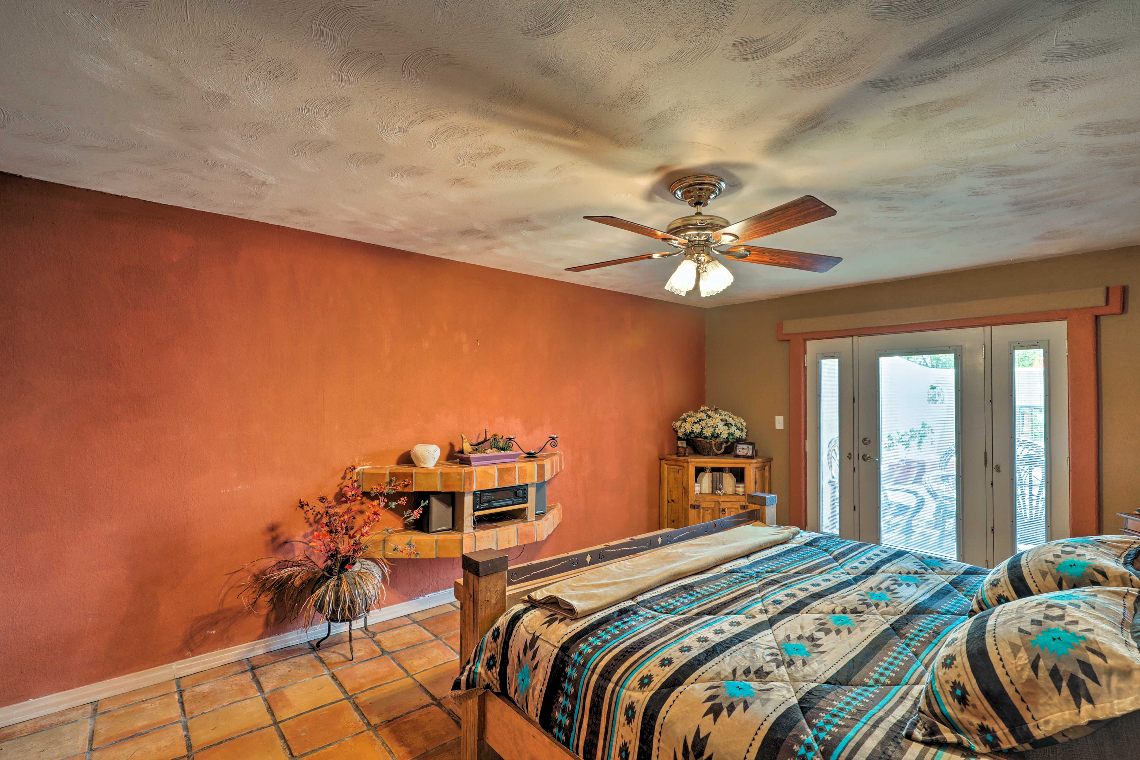 The master bedroom includes private patio access!