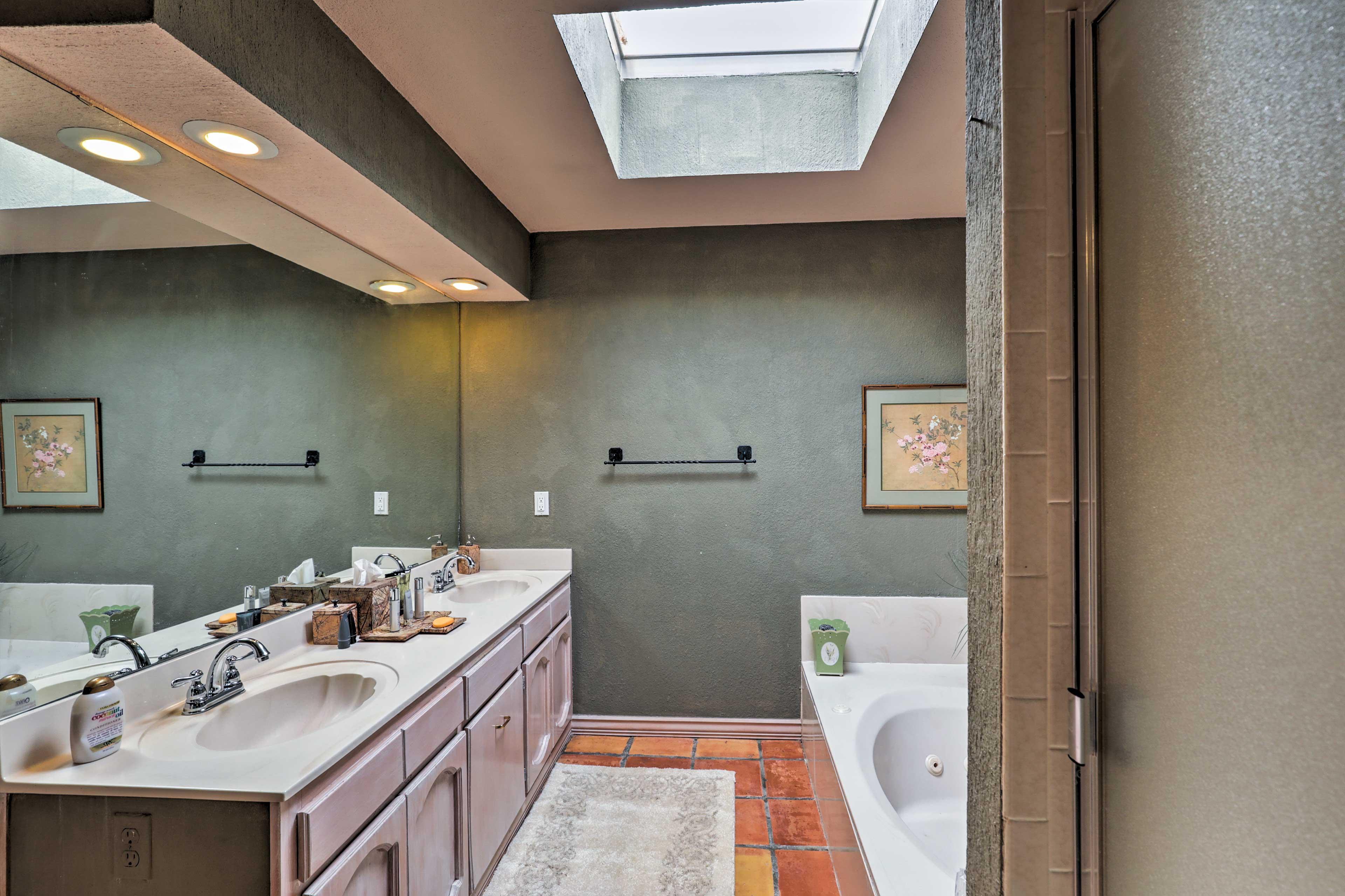 Your en-suite bathroom includes a double vanity!