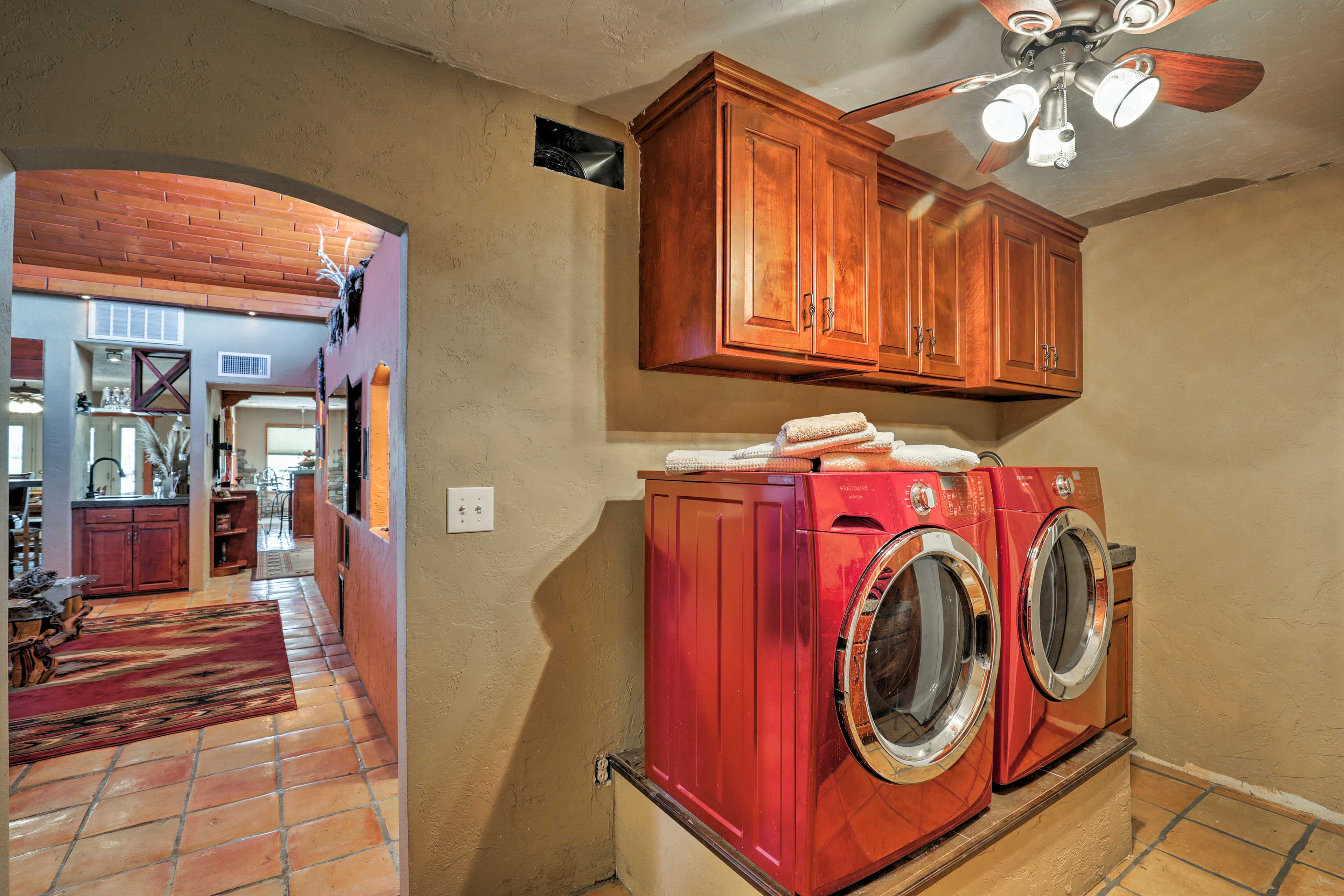 You'll be seeing double with 2 washers and dryers!