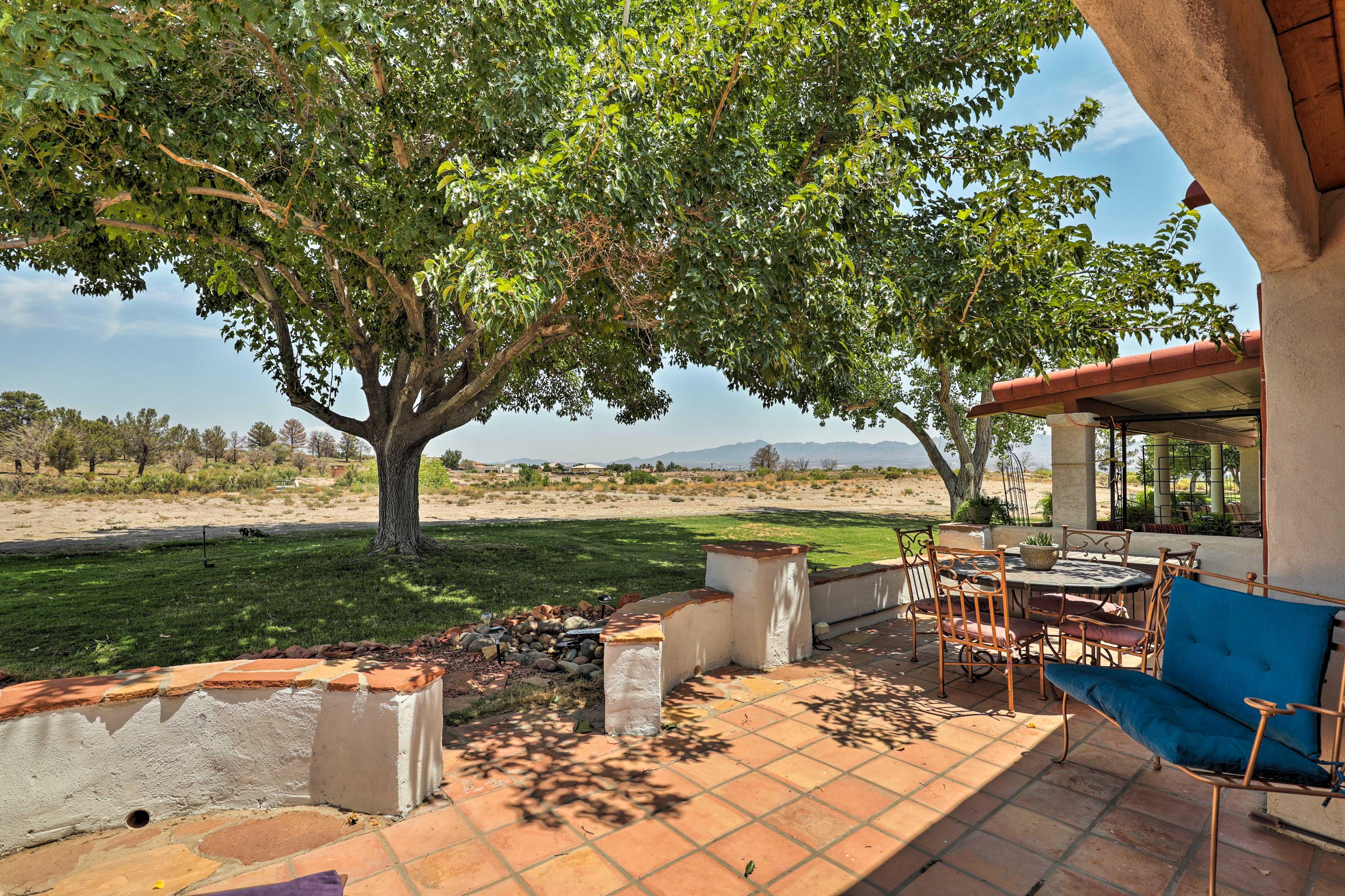 Dine al fresco on the second patio!